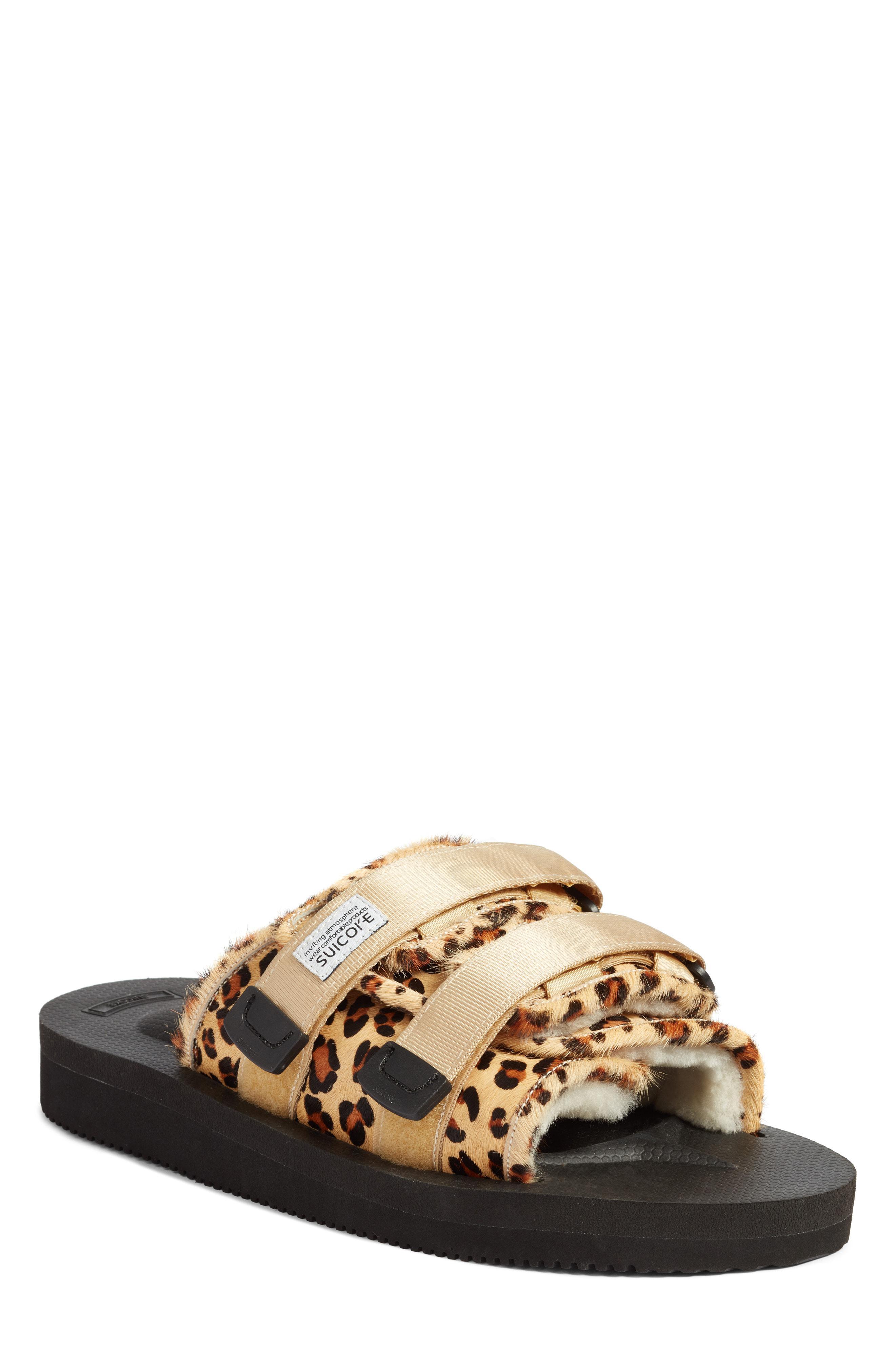 a5ce5396747 Lyst - Suicoke Moto Cab Genuine Calf Hair Slide Sandal in Natural ...