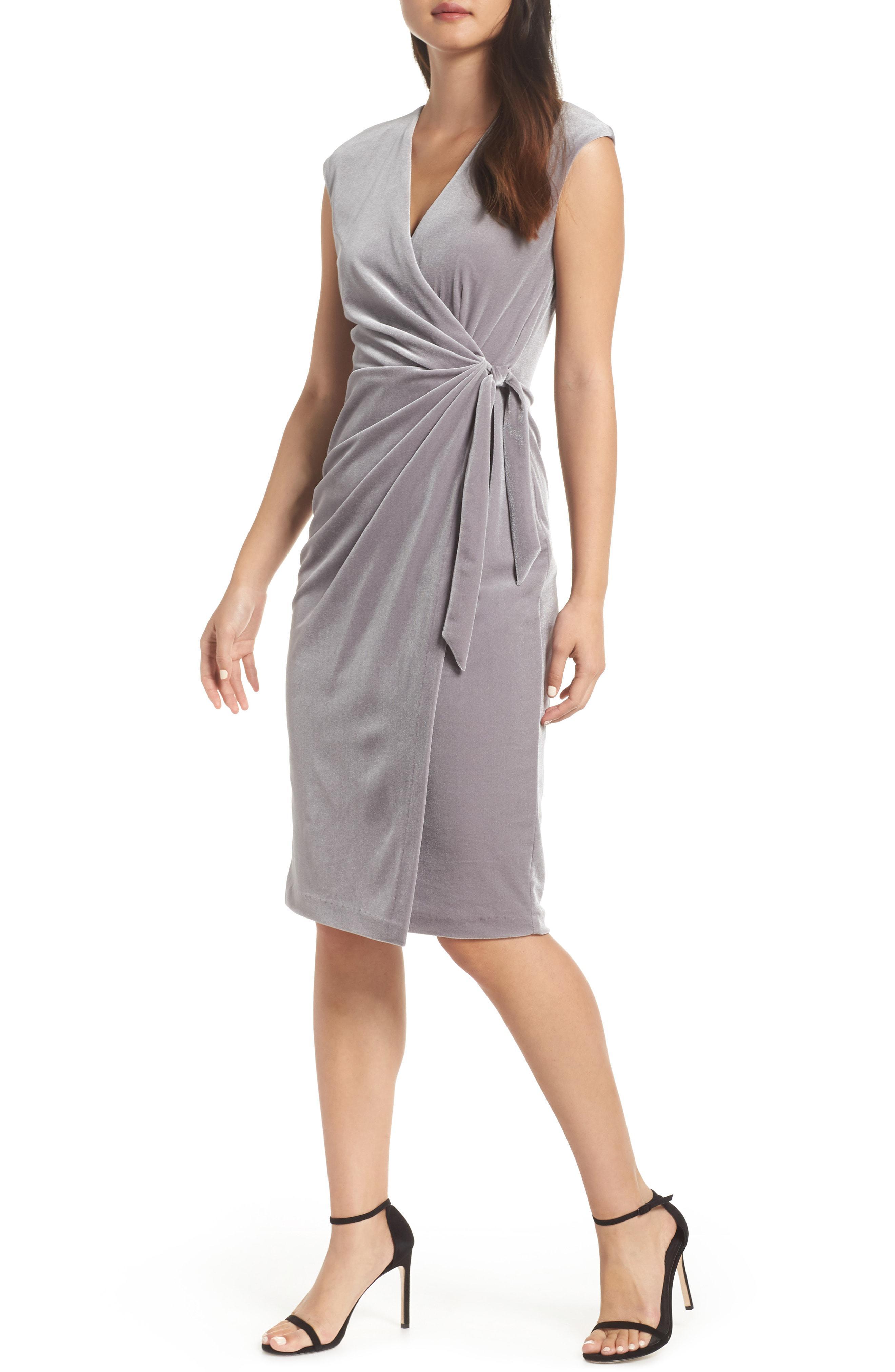 ad2a9933bdf Maggy London. Women s Velvet Faux Wrap Dress