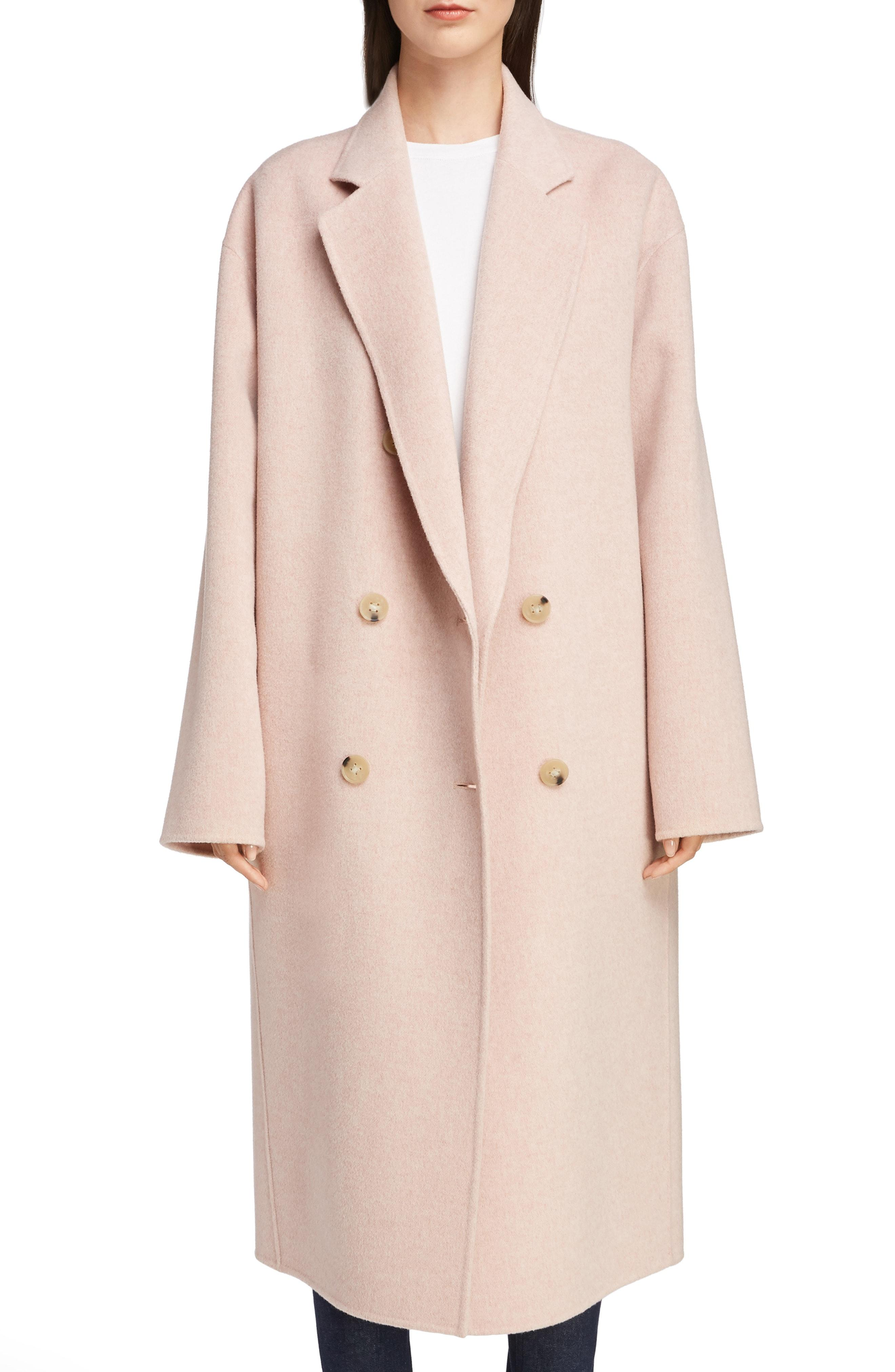 bccca964bf1 Lyst - Acne Studios Odethe Double Breasted Wool   Cashmere Coat in Pink