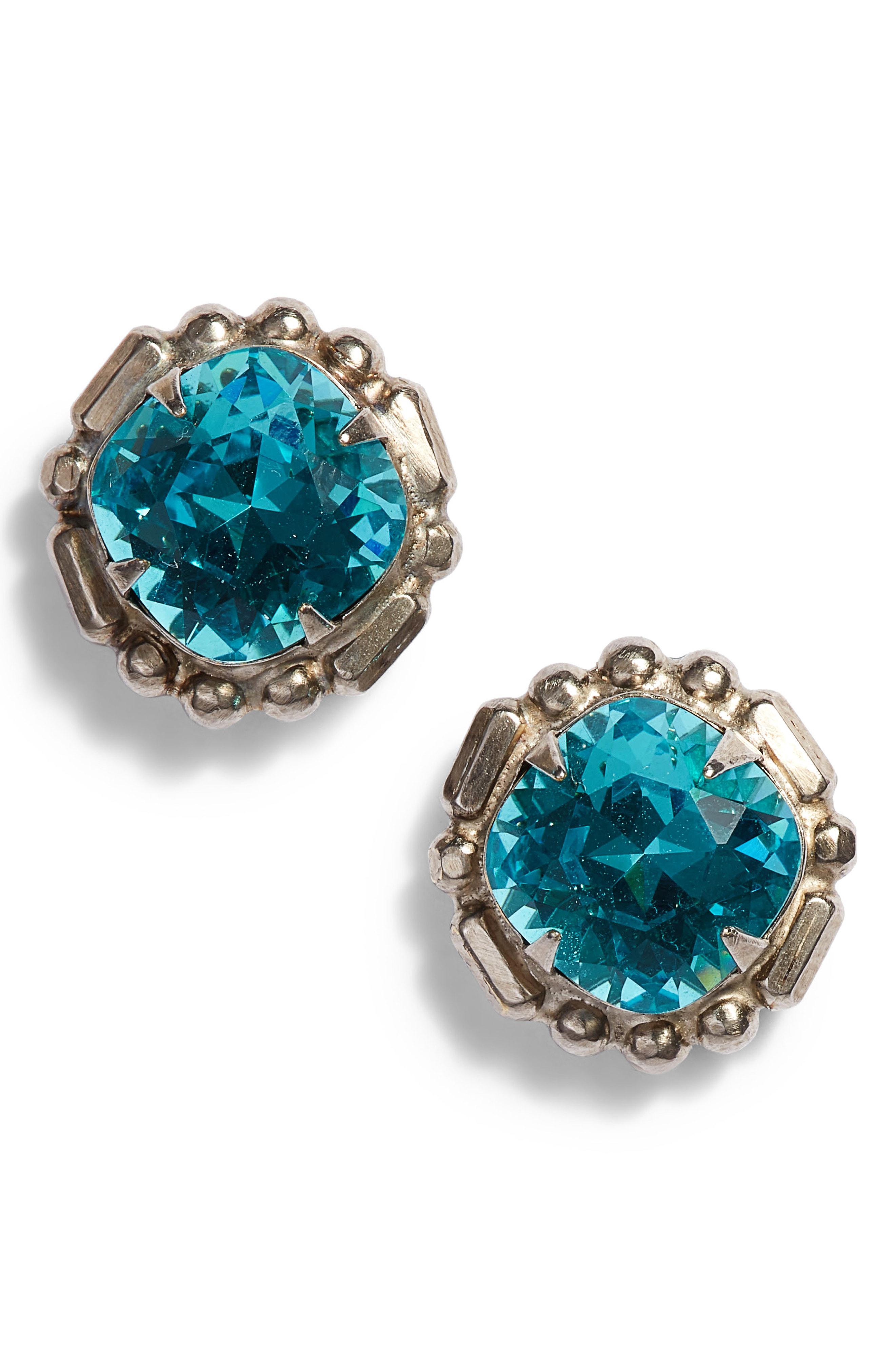 831ef0b79 Lyst - Sorrelli Adorned Cushion Stud Earrings in Blue