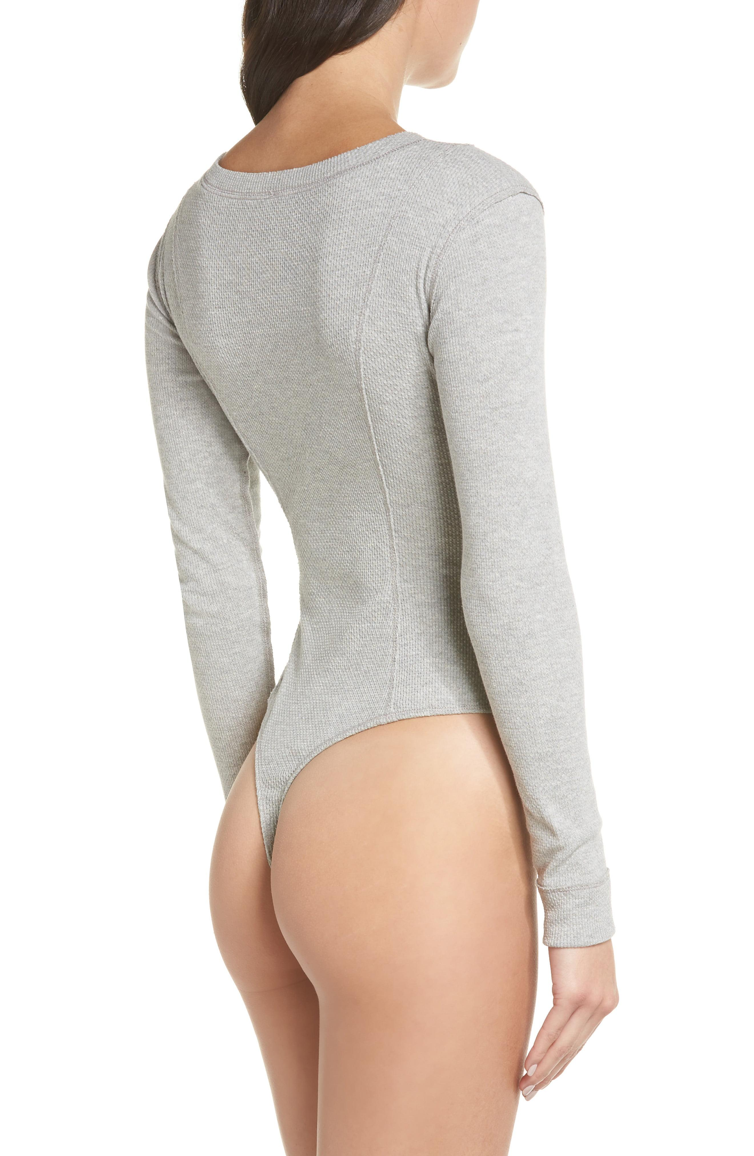 8b1677504d19 Free People Intimately Fp Frankie Henley Thong Bodysuit in White - Lyst