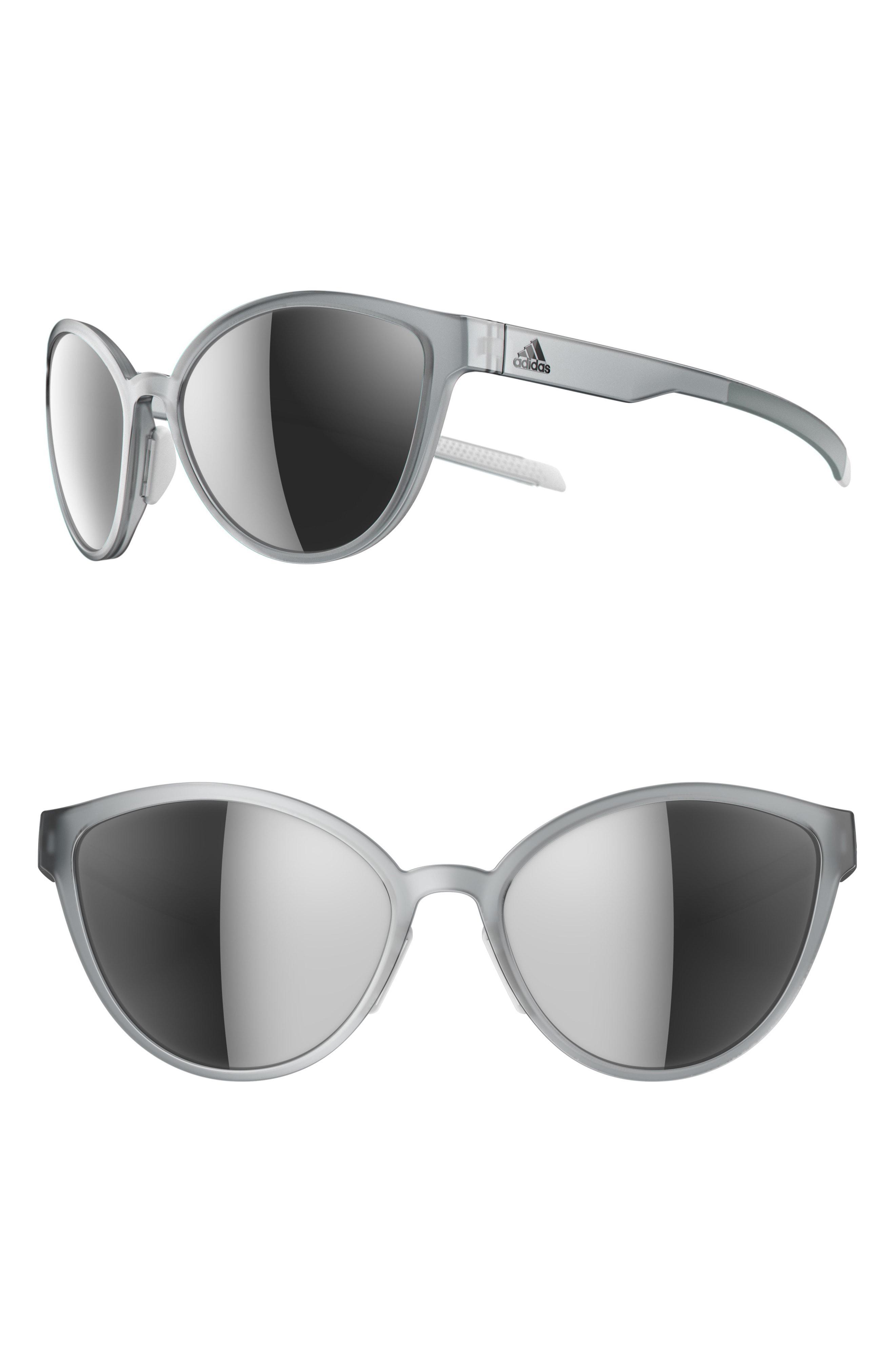 2d1da6e523 Adidas - Gray Tempest 56mm Mirrored Cat Eye Running Sunglasses - Lyst. View  fullscreen