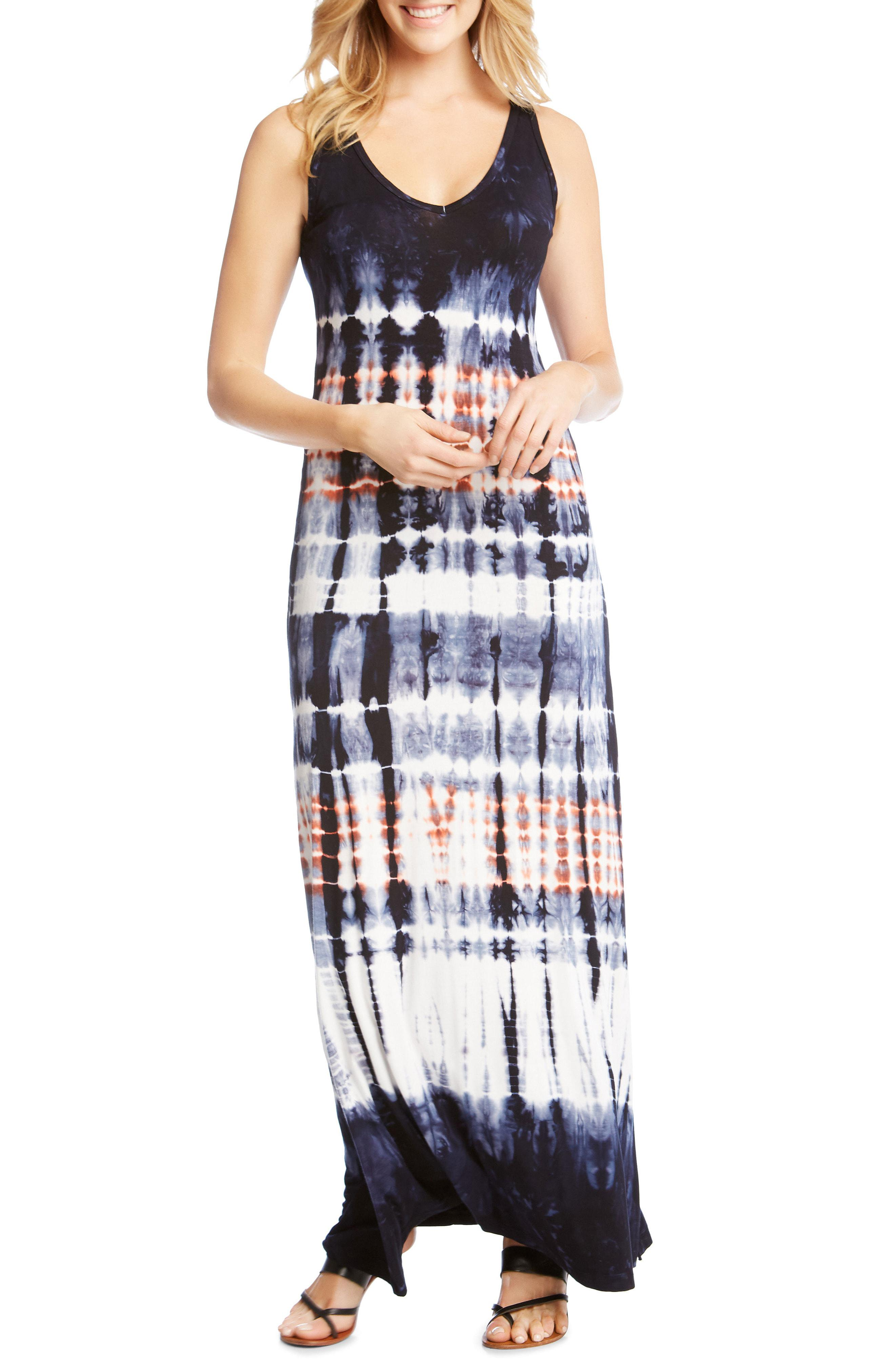b3a87e23989 Lyst - Karen Kane V-neck Tie Dye Maxi Dress in Black