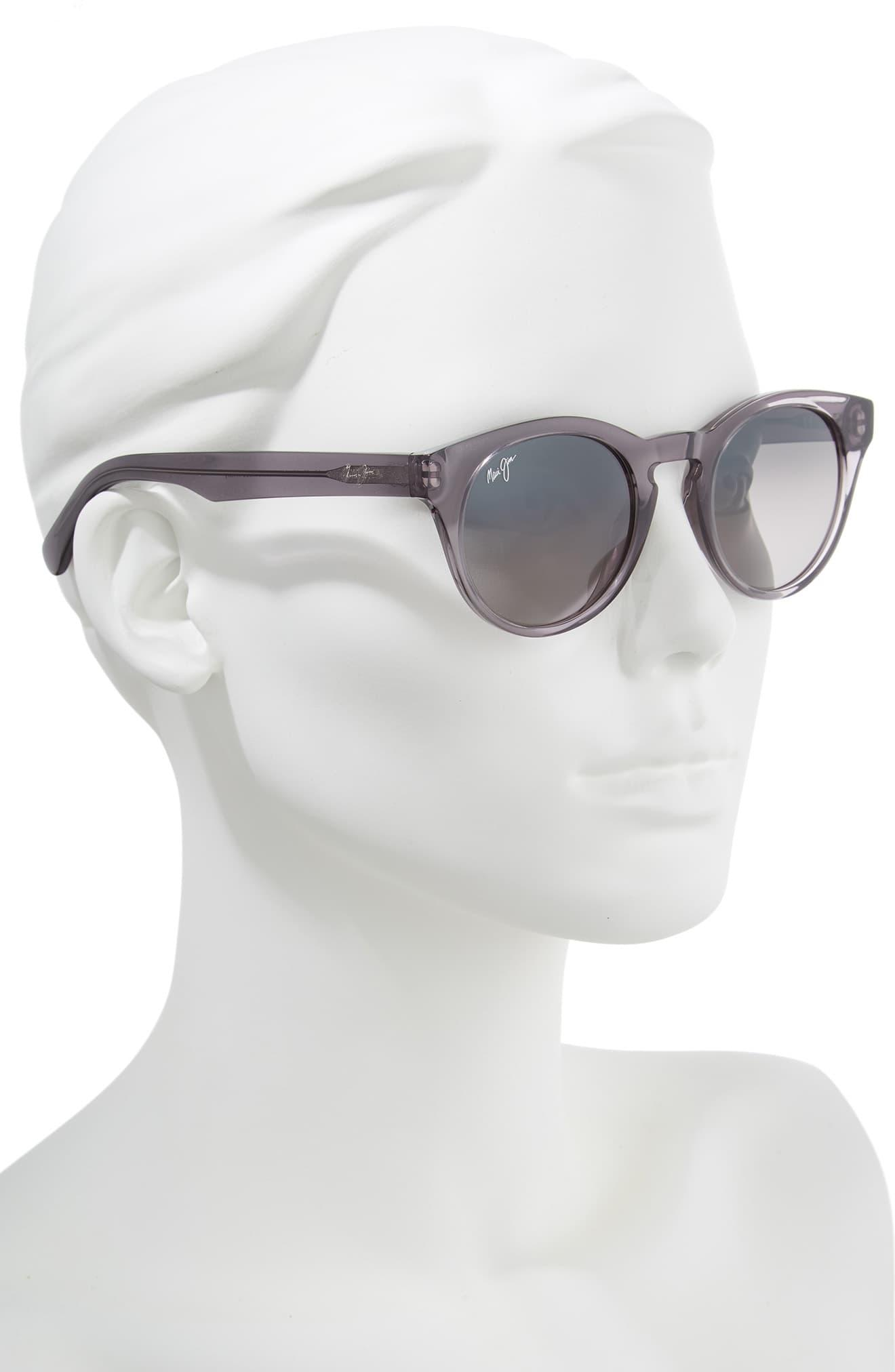 e3cb726946fd Maui Jim - Gray Dragonfly 49mm Polarized Cat Eye Sunglasses - Translucent  Grey/ Neutral Grey. View fullscreen