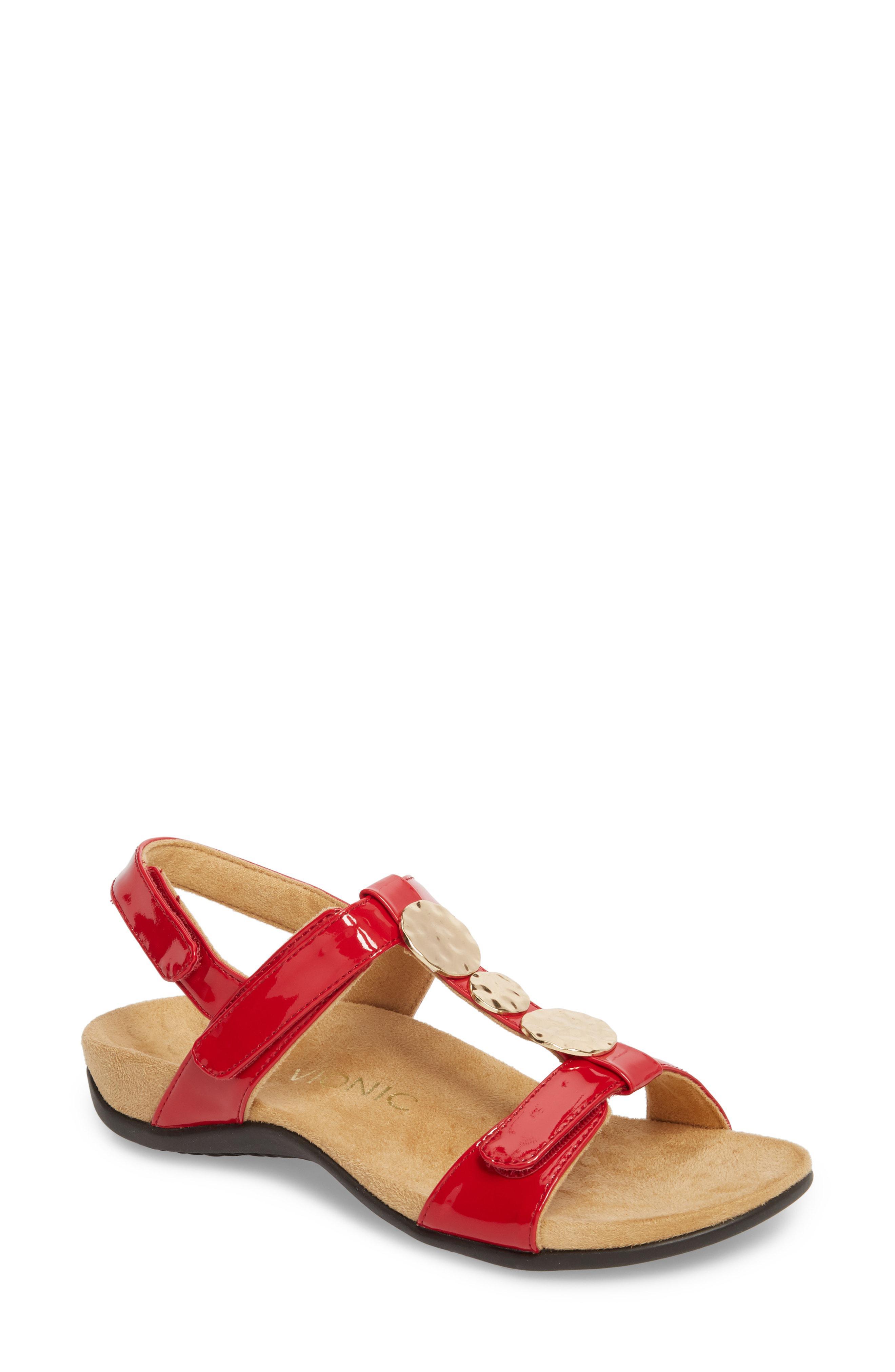d9c6d0b0e7c0 Vionic Farra Orthaheel Sandal in Red - Lyst