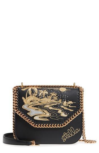 72e27ce916 Lyst - Stella McCartney Falabella Hawaiian Embroidered Faux Leather ...