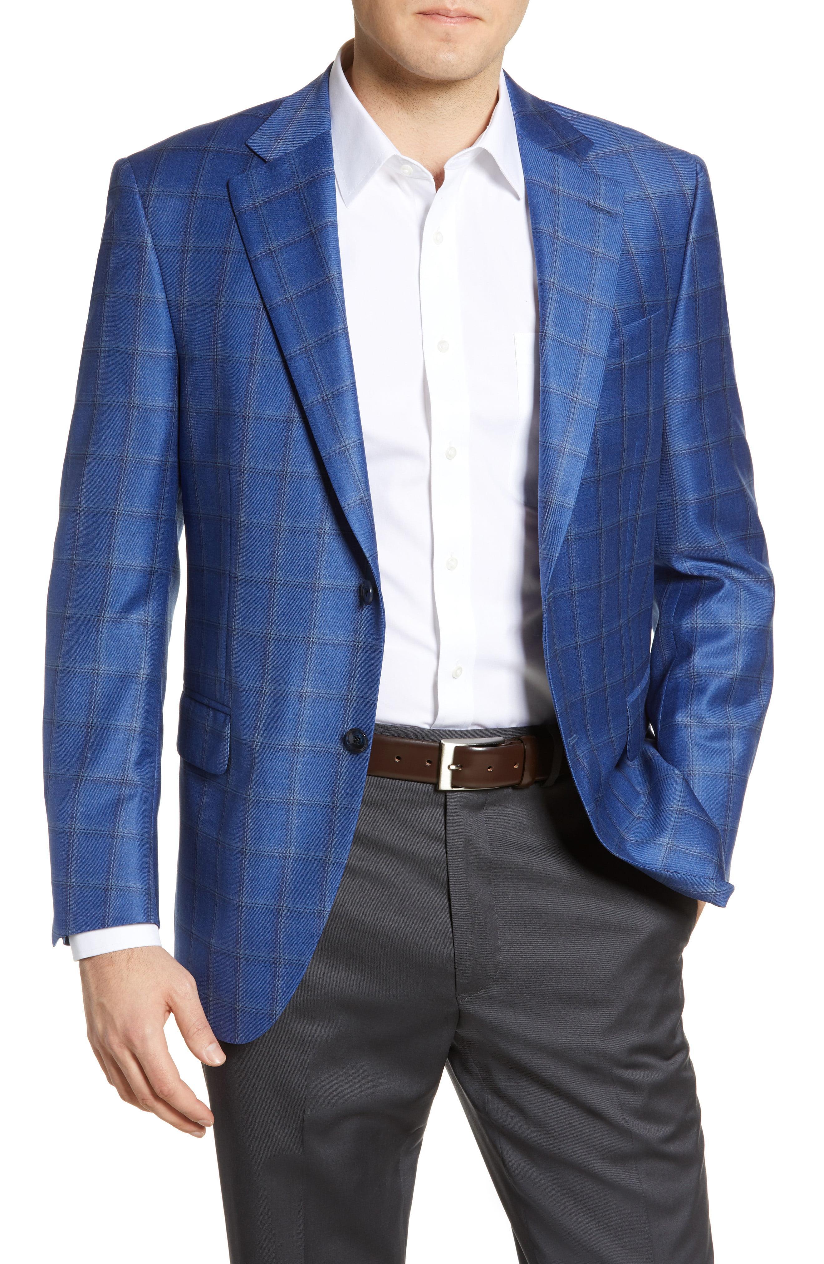 b997fb75d9a39f Lyst - Peter Millar Flynn Windowpane Wool Sport Coat in Blue for Men