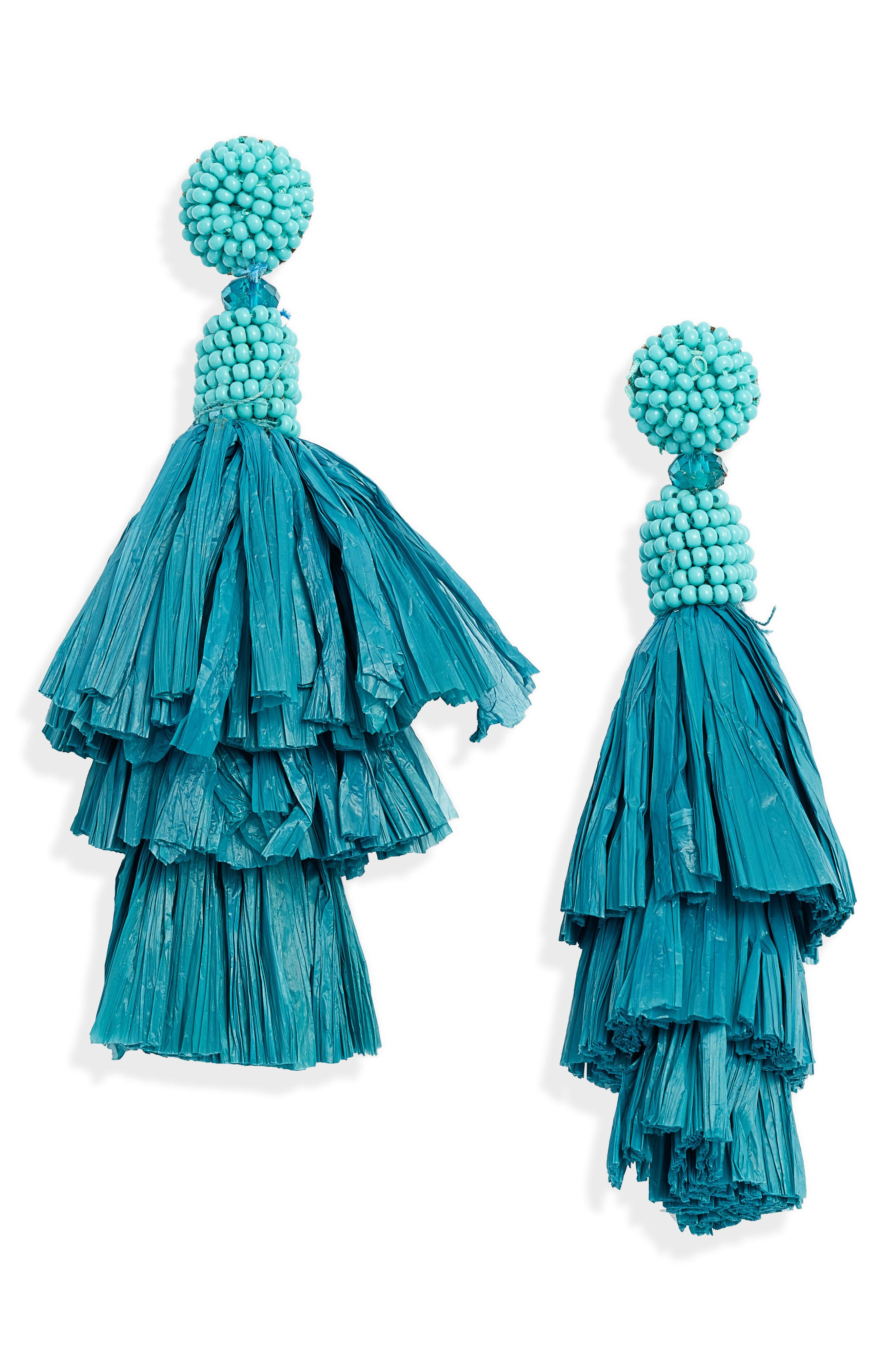 90931effd84017 Lyst - Mad Jewels Medici Tiered Earrings in Blue