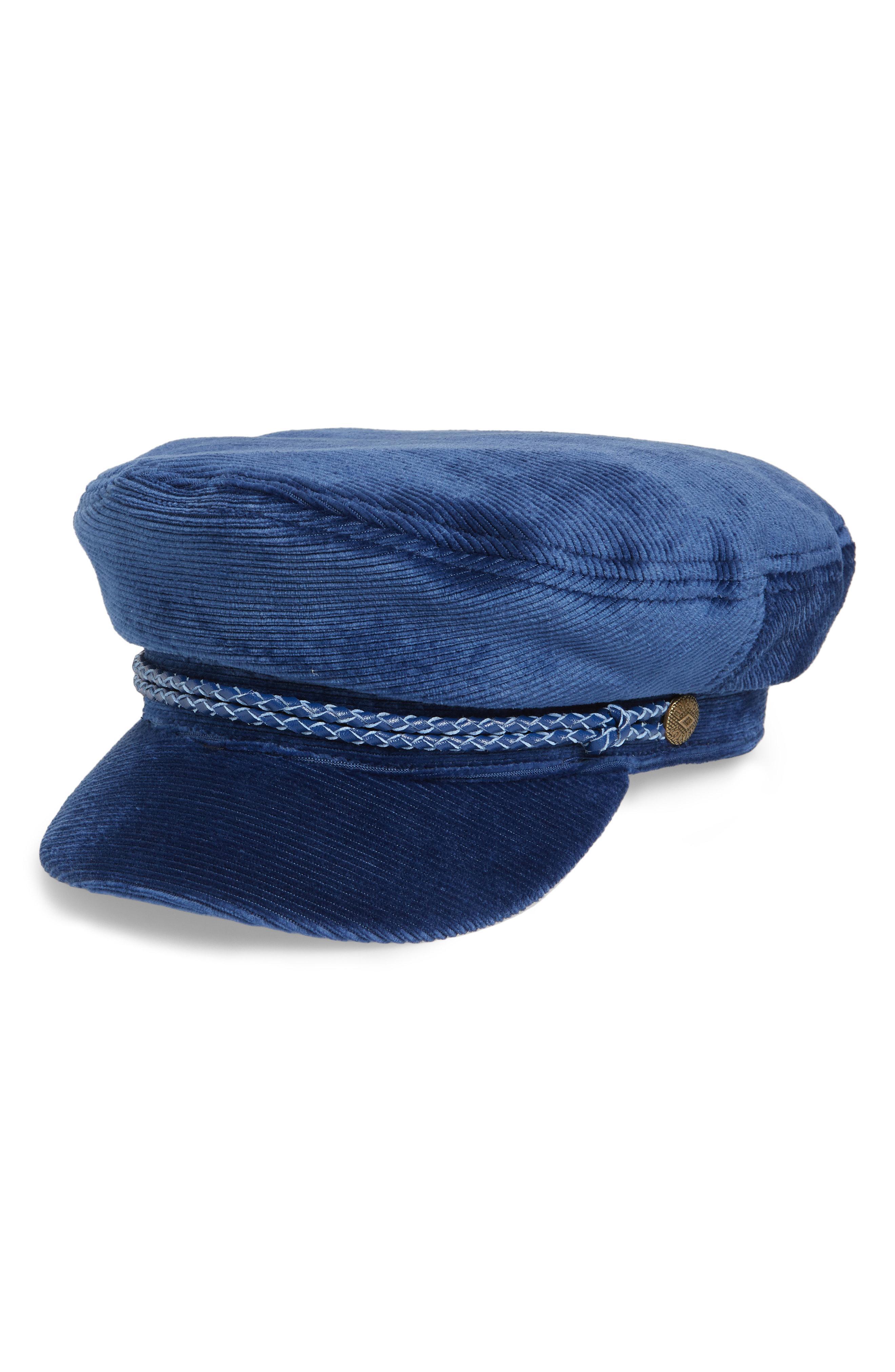 b76beb3fcad Lyst - Brixton Fiddler Corduroy Baker Boy Cap in Blue