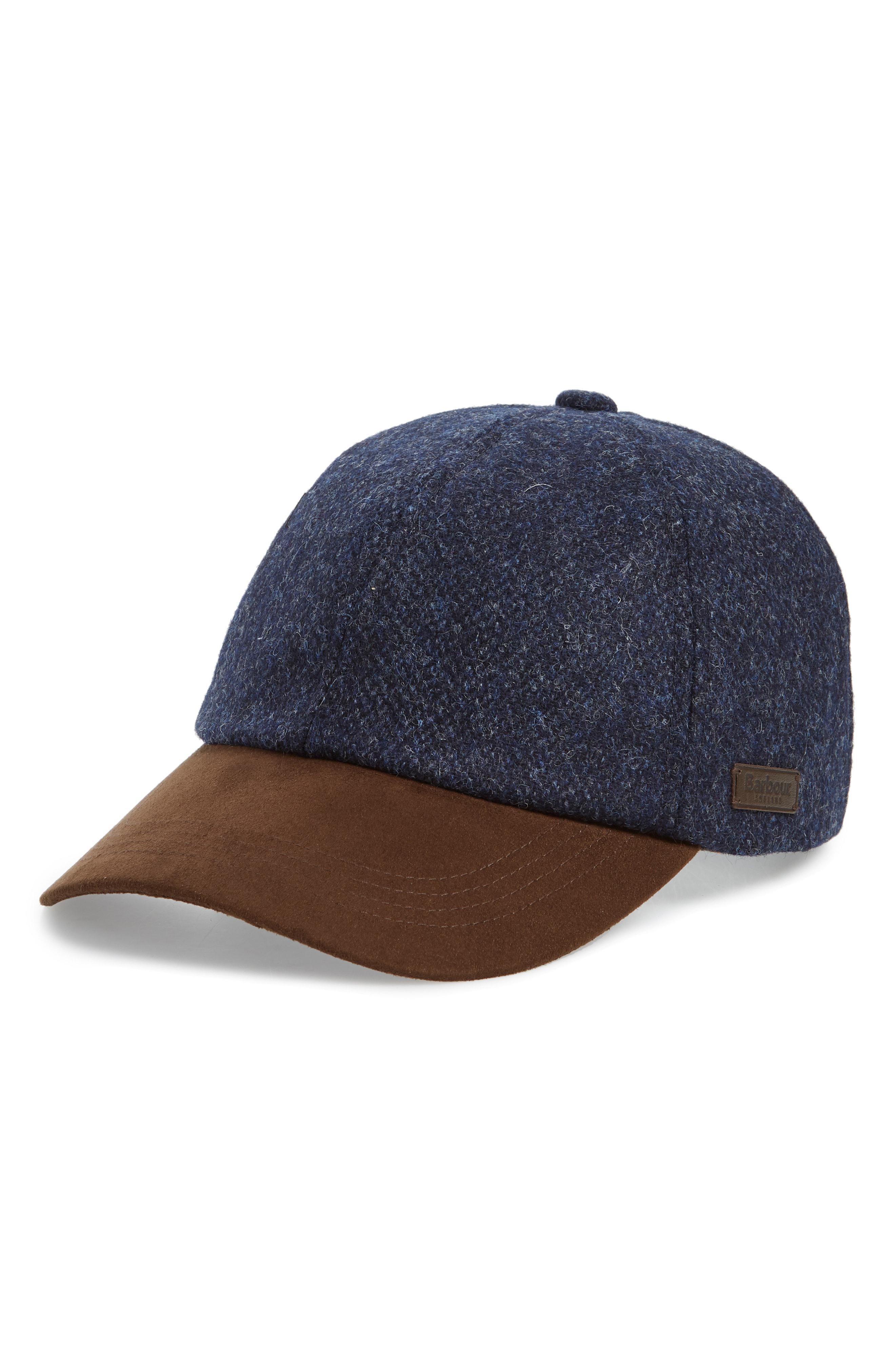 Lyst - Barbour Dotterel Wool   Moleskin Cap in Blue for Men 95d051a93a29