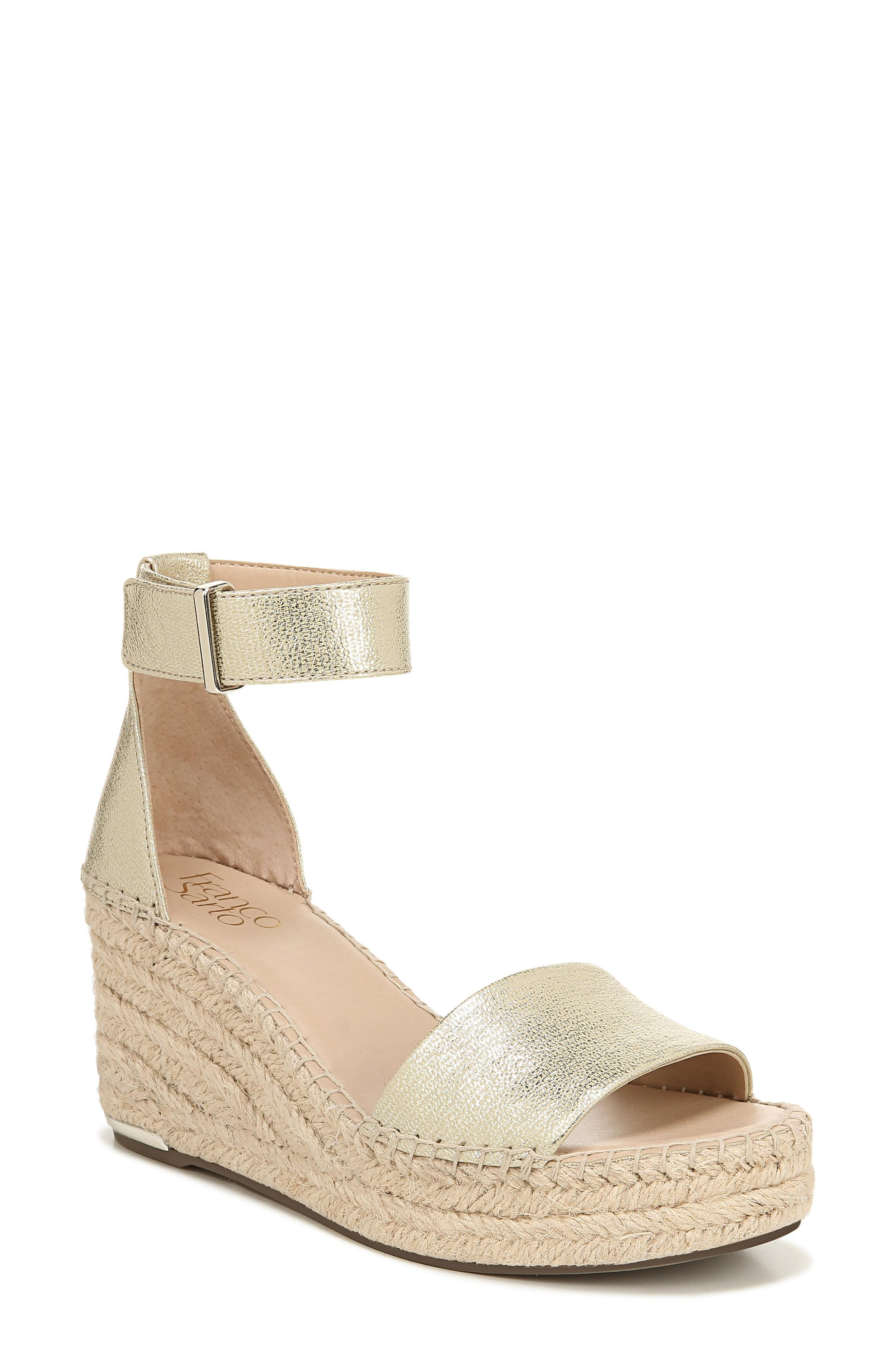 851b574bdb7e Lyst - Franco Sarto Clemens Wedge Sandals in Metallic - Save 1%