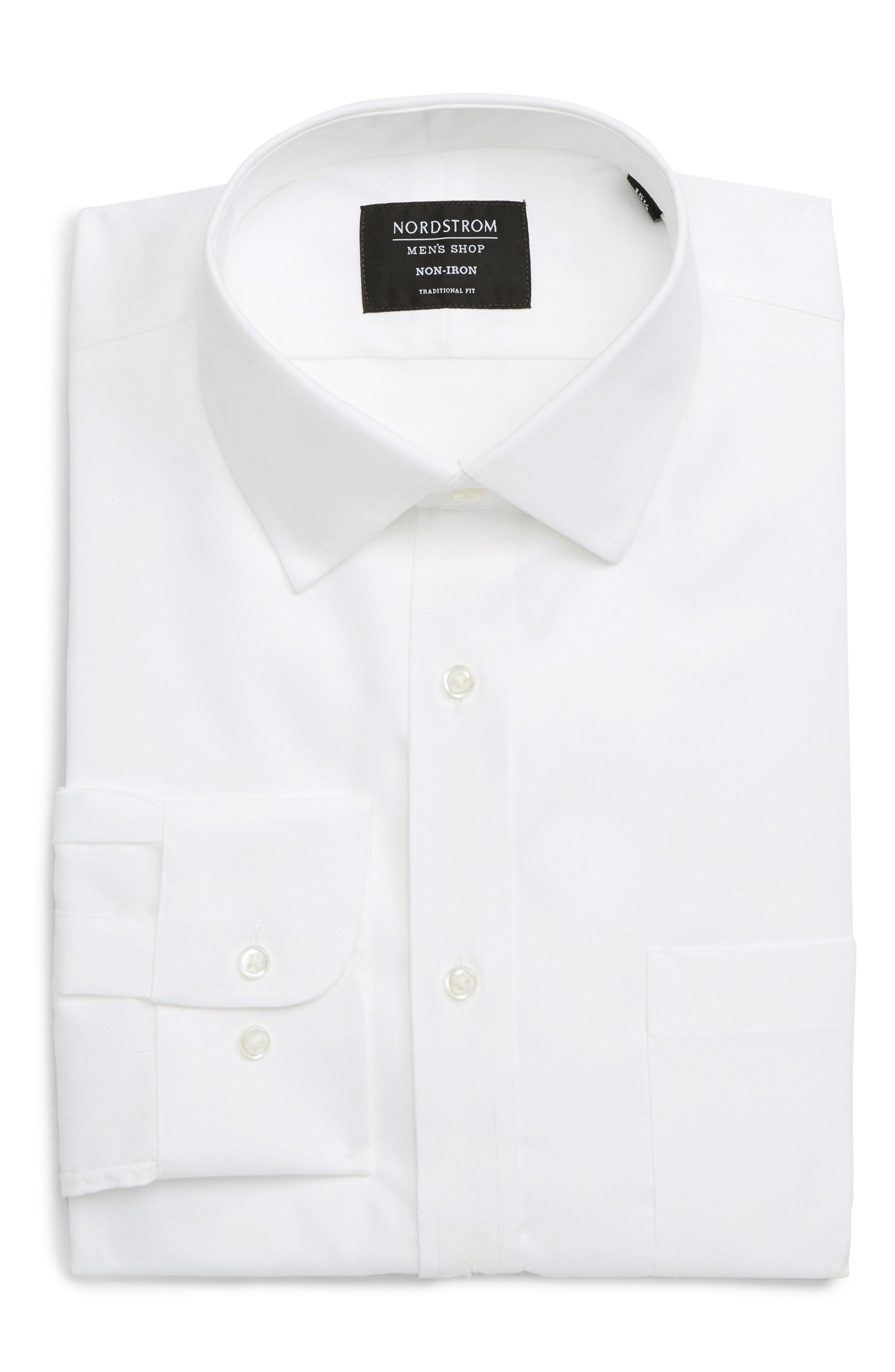 0746001dff1e5 Lyst - Nordstrom Traditional Fit Non-iron Dress Shirt in White for Men