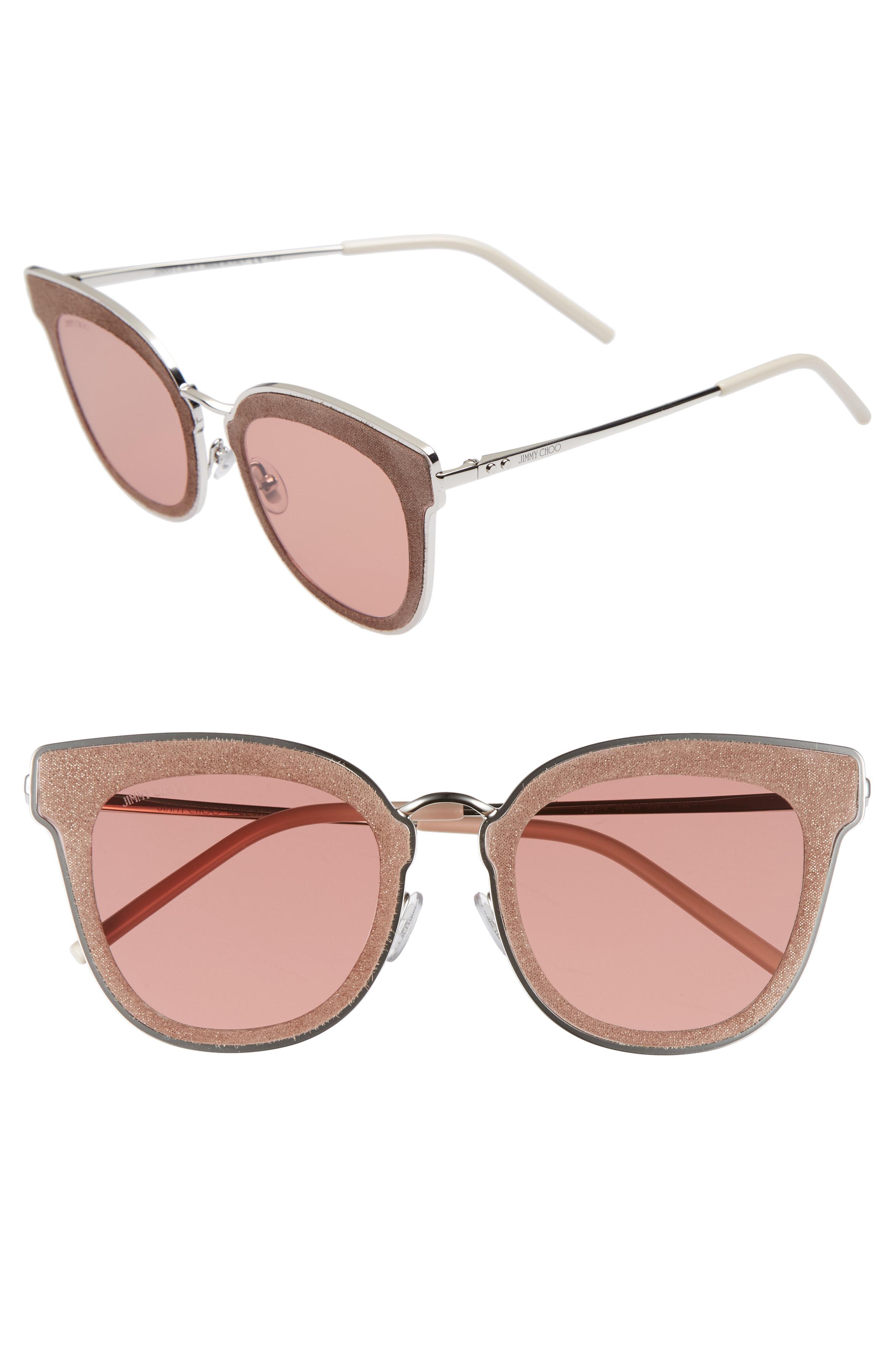 337f125c113 Lyst - Jimmy Choo Niles 63mm Oversize Cat Eye Sunglasses -