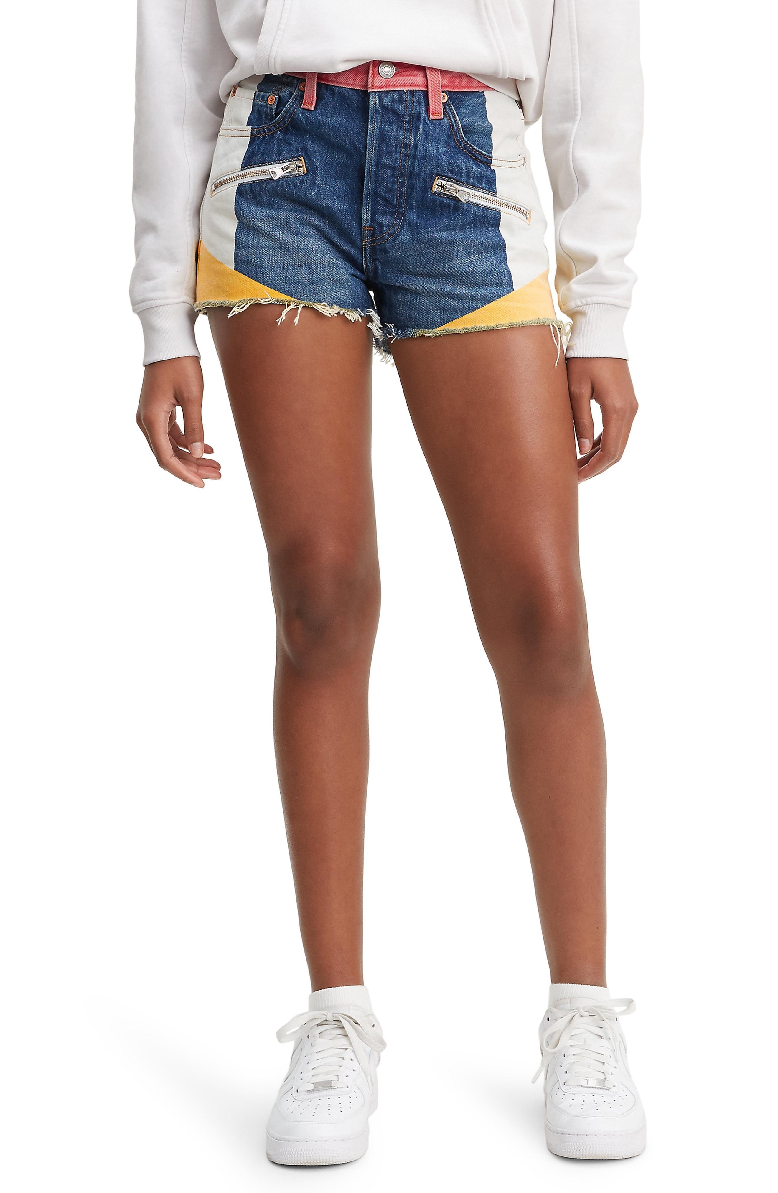 d71b00ba Levi's. Women's 501 Colorblock High Waist Cutoff Shorts