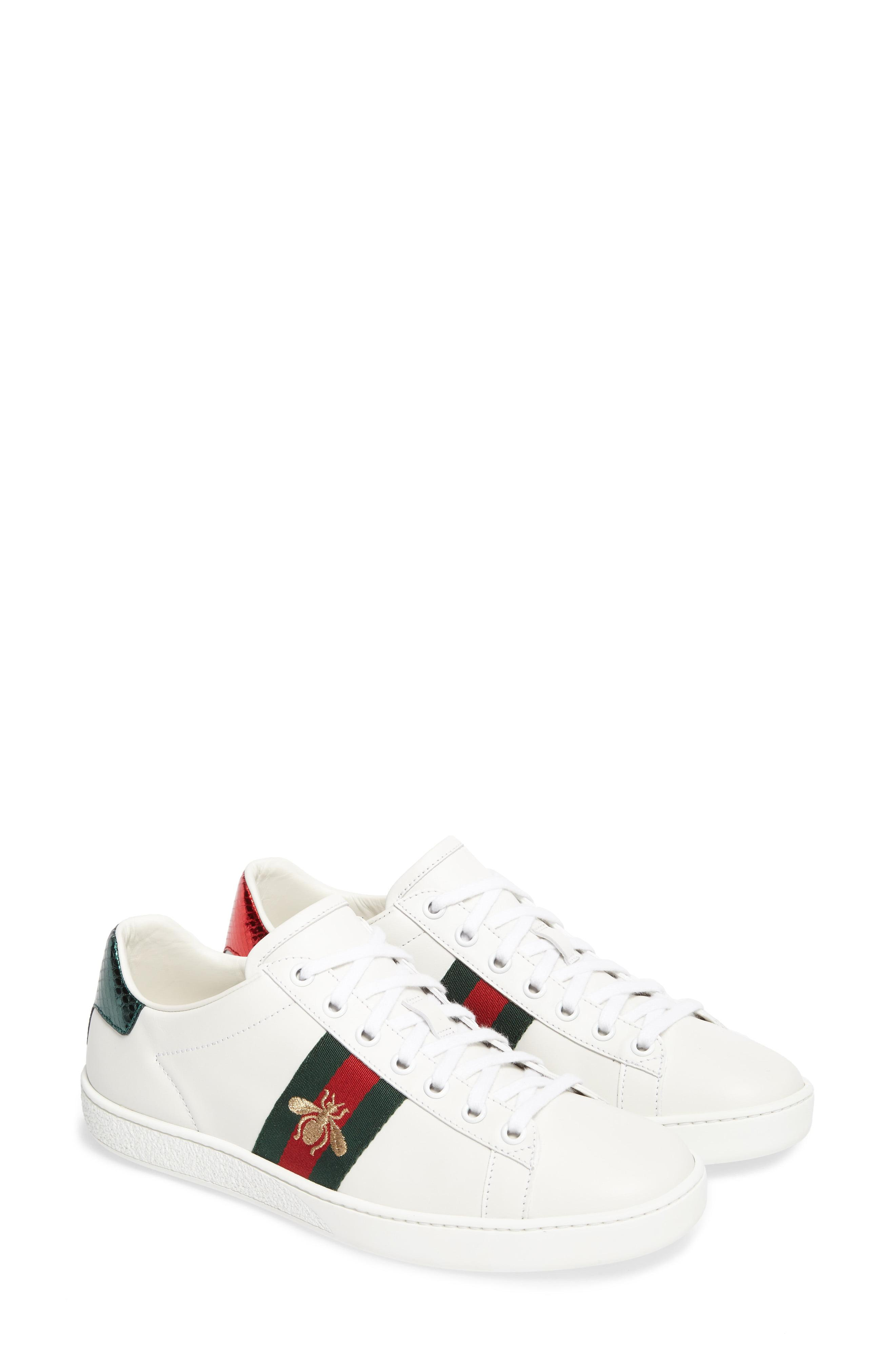 30b48f12c3f Lyst - Gucci New Ace Sneaker in White - Save 5%