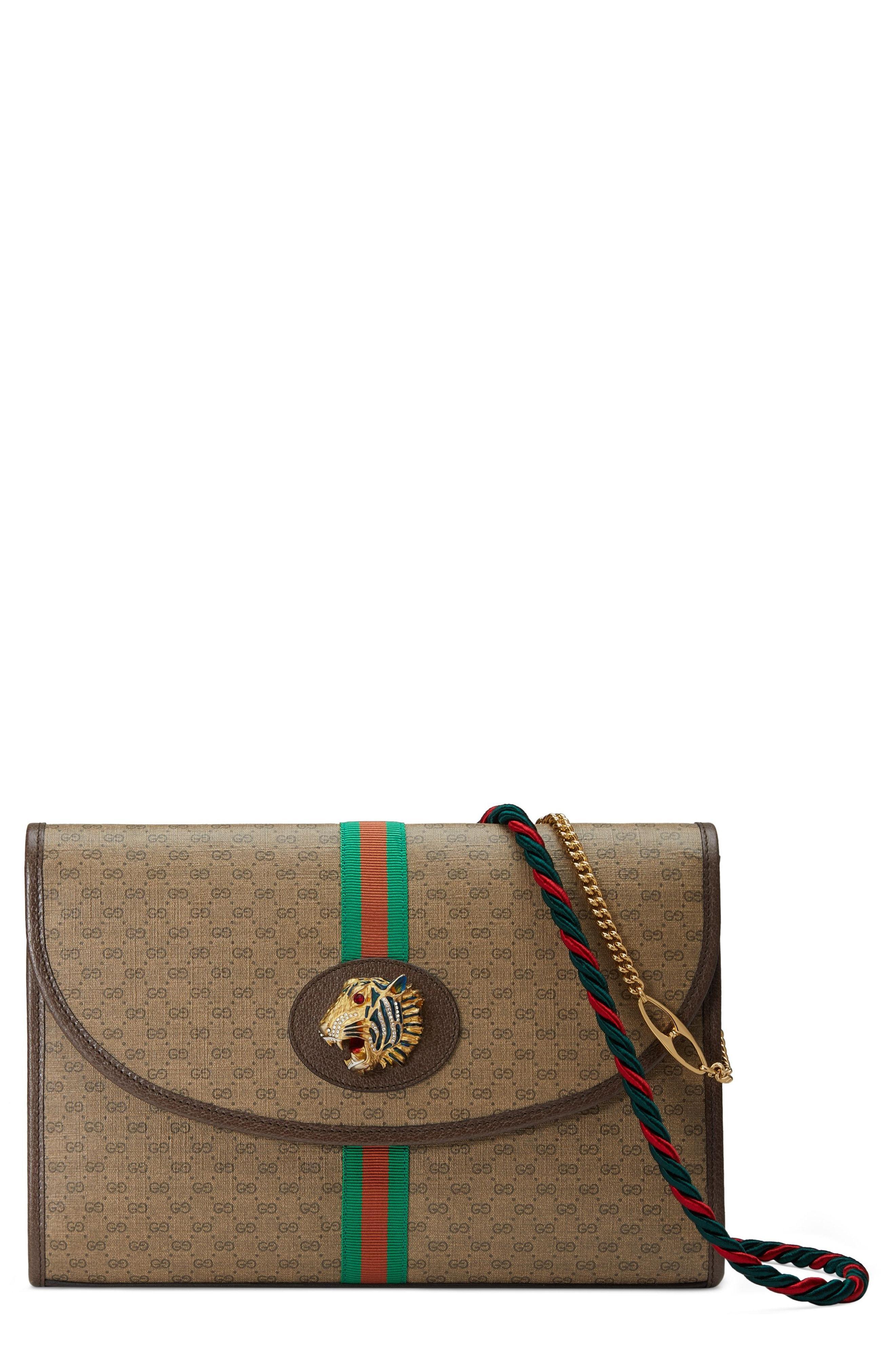 8f357911902 Lyst - Gucci Medium Linea Rajah Shoulder Bag in Natural