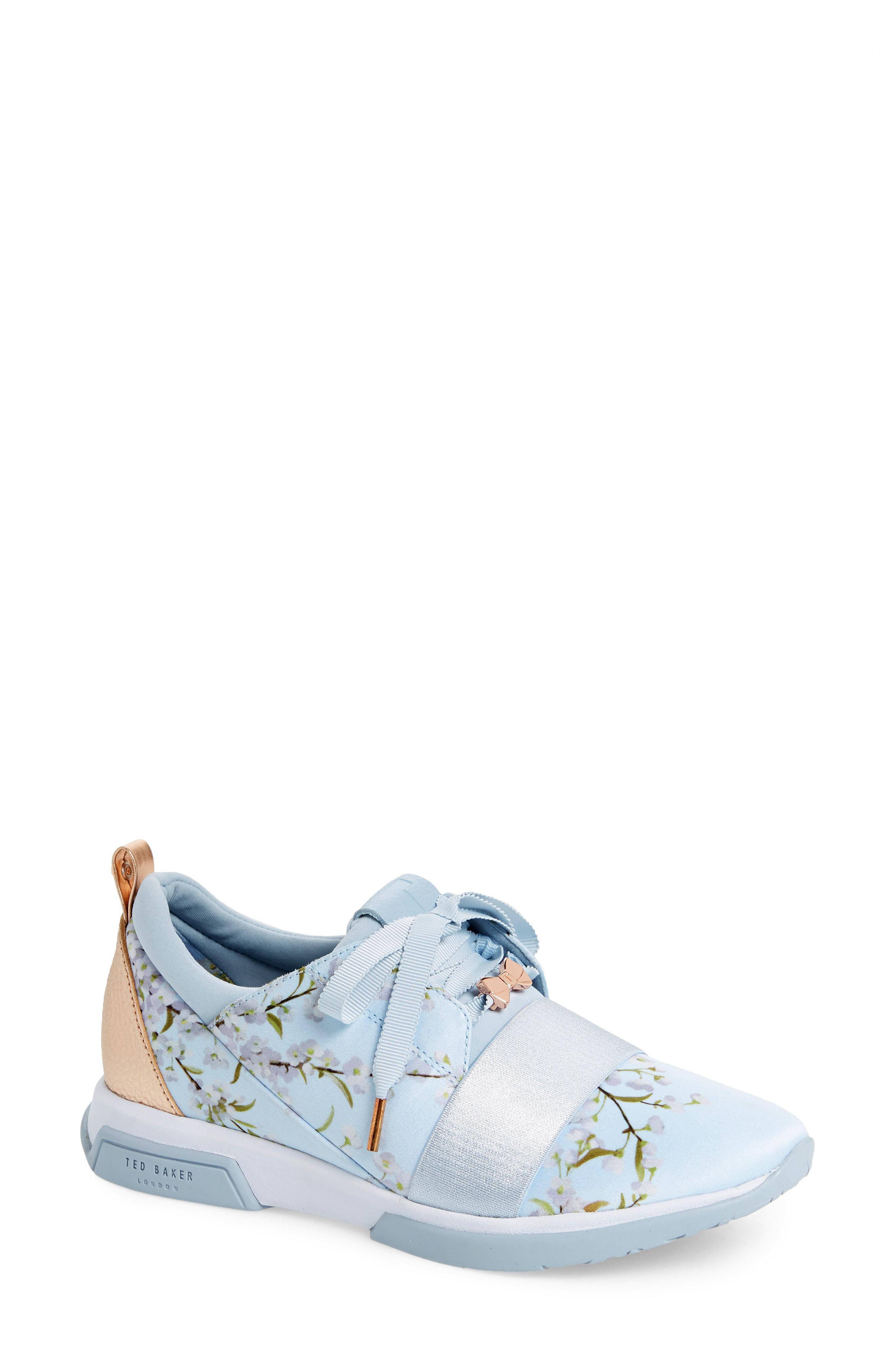 55e7a8c14eccfa Lyst - Ted Baker Cepap Floral Sneaker in Blue