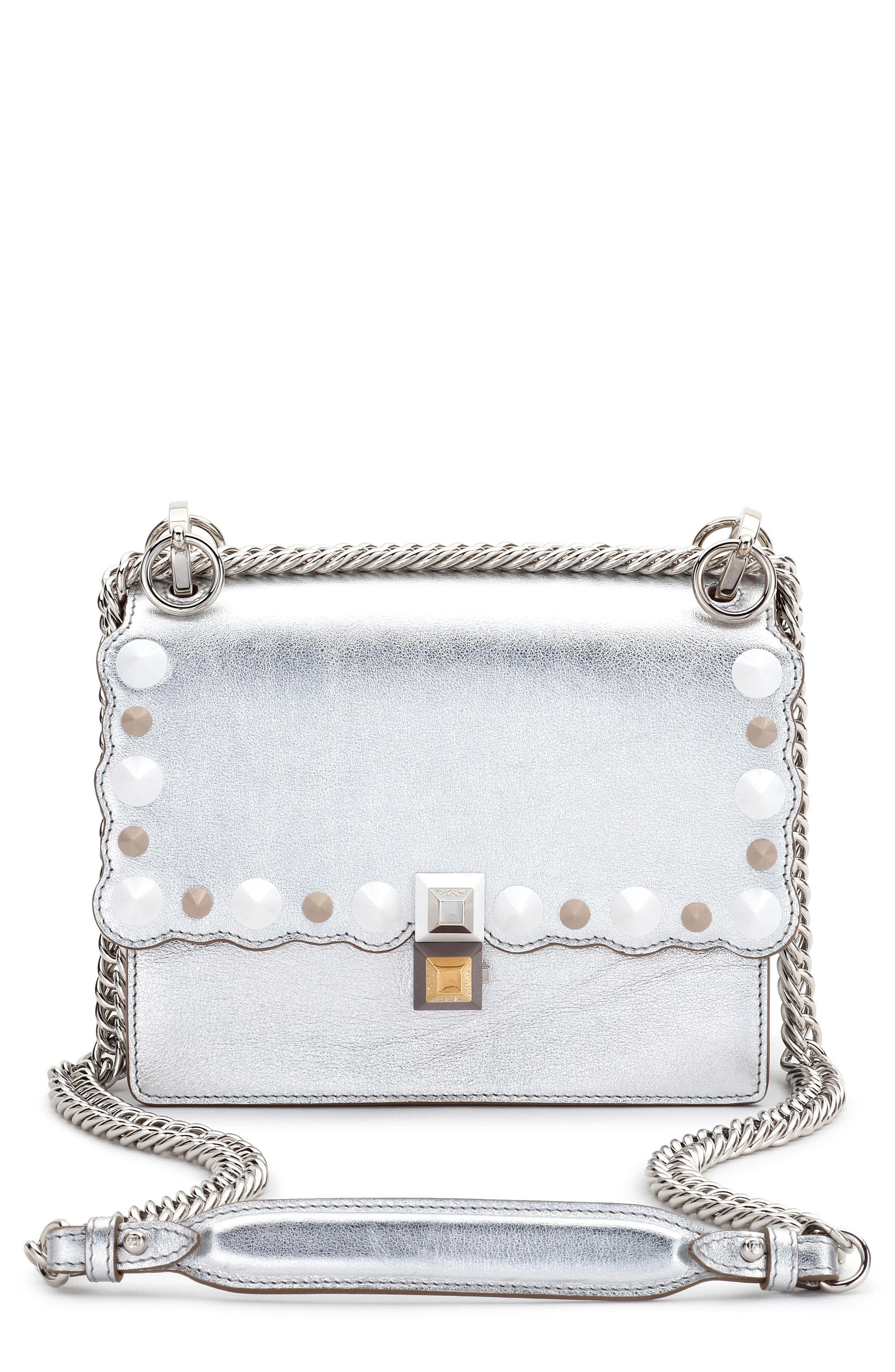 Lyst - Fendi Small Kan I Metallic Leather Shoulder Bag - in Metallic ... 7368a935b3f9c