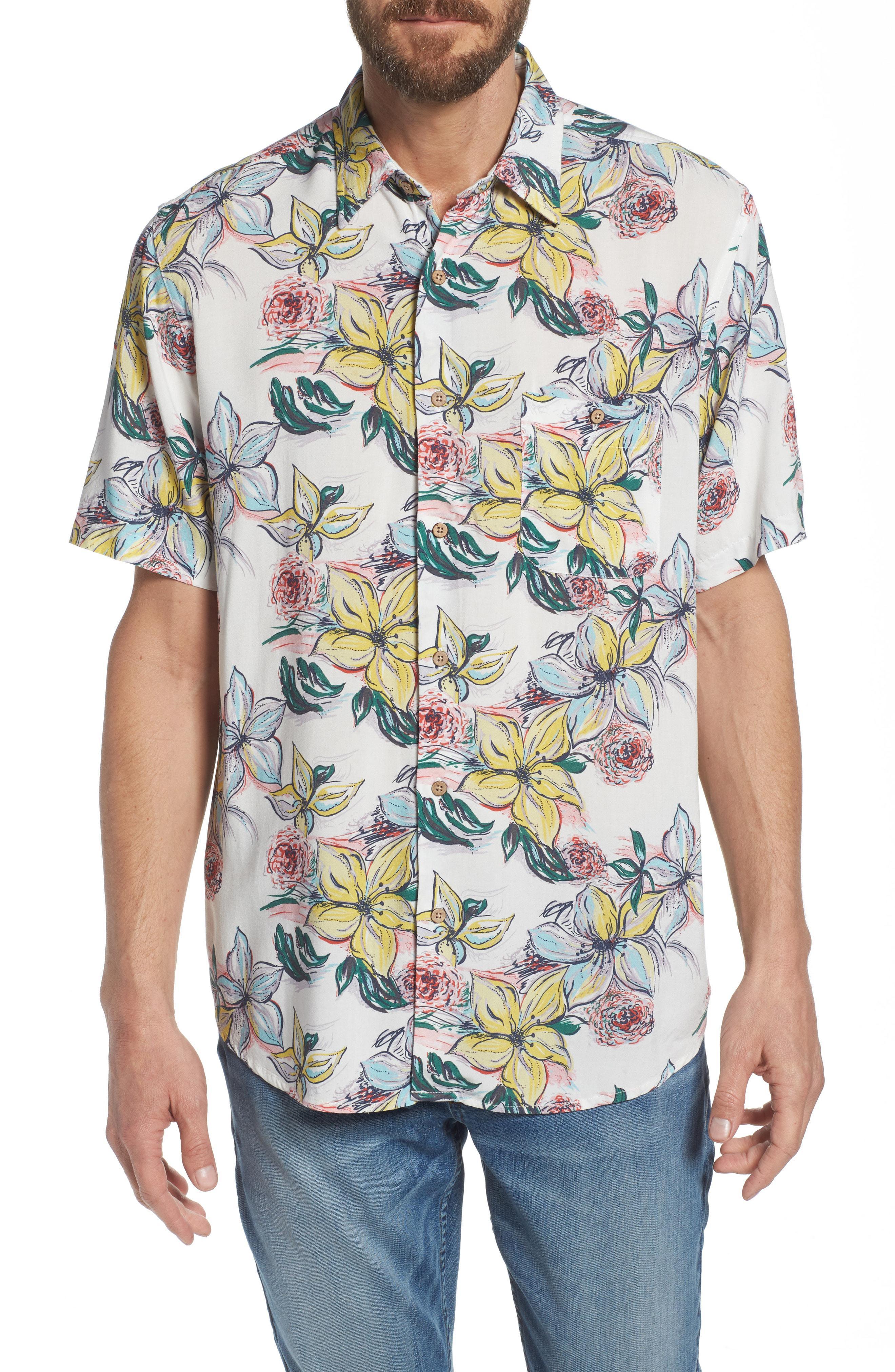 fabec728 Lyst - Faherty Brand Hawaiian Print Sport Shirt in Blue for Men