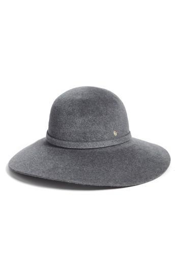 79f852bf720fe Lyst - Helen Kaminski Rollable Rabbit Hair Felt Floppy Hat in Gray
