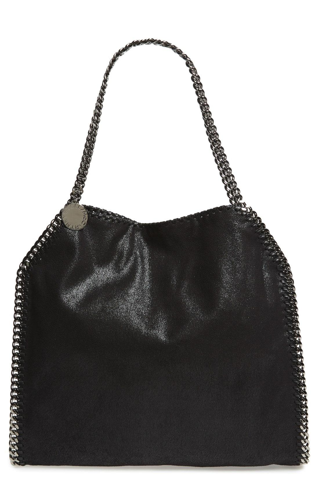 a49db89d4d Stella McCartney. Women s Black  small Falabella - Shaggy Deer  Faux  Leather Tote -