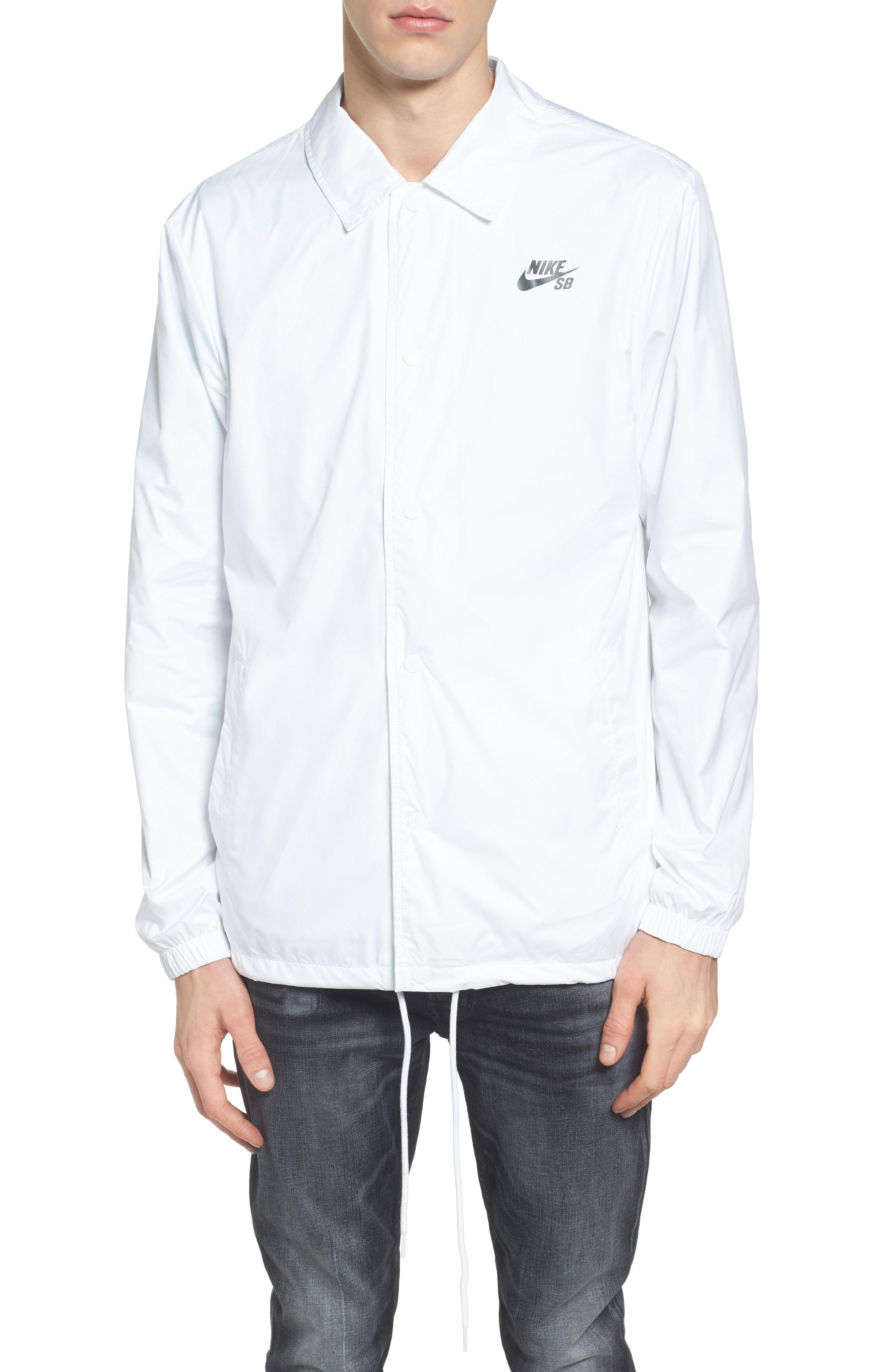 6e8bc9353fc24 Lyst - Nike Sb Shield Coach's Jacket in White for Men