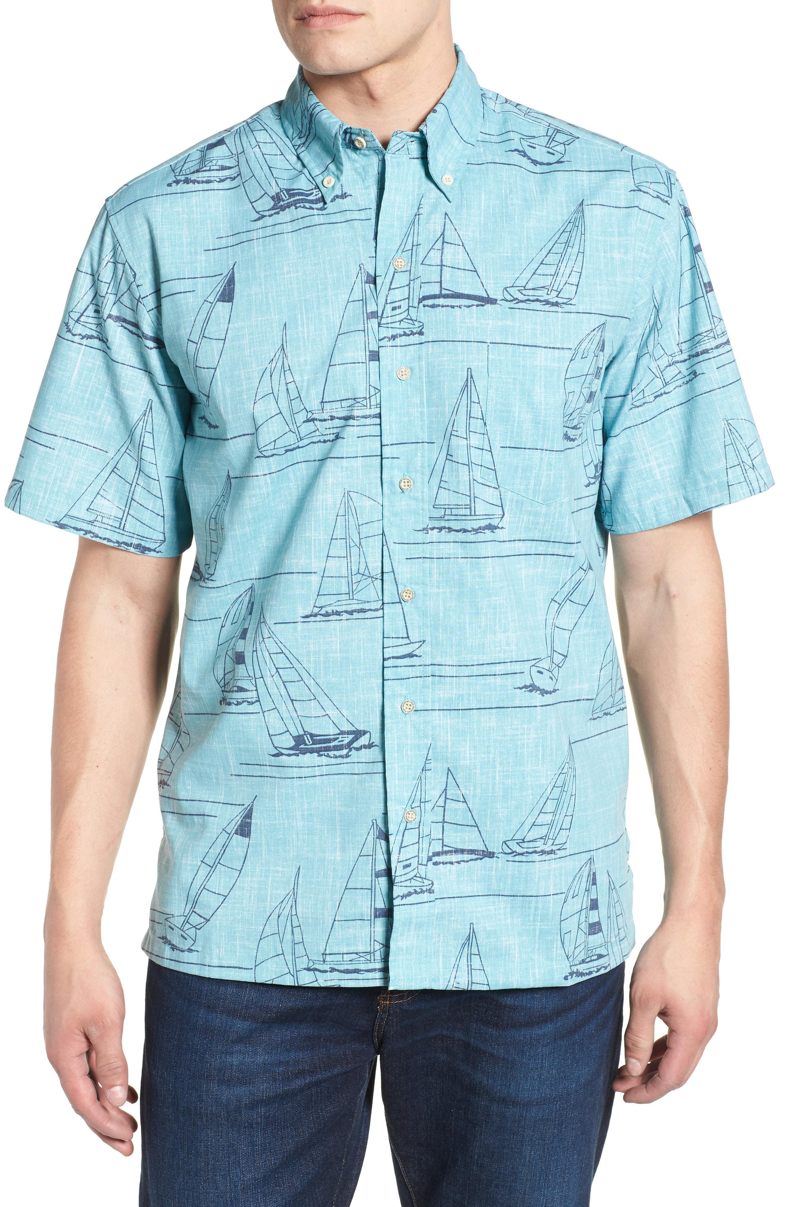 36c718c09dc3 Reyn Spooner. Men s Blue Newport 2 Honolulu Classic Fit Print Sport Shirt