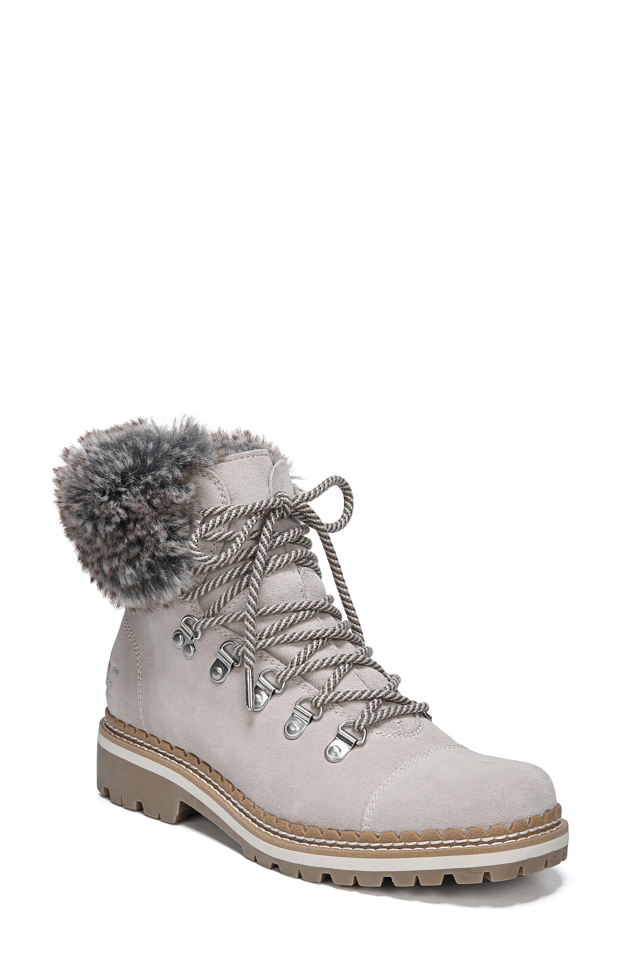 f83728f6aae9 Lyst - Sam Edelman Bowen Faux Fur Trim Bootie - Save 18%