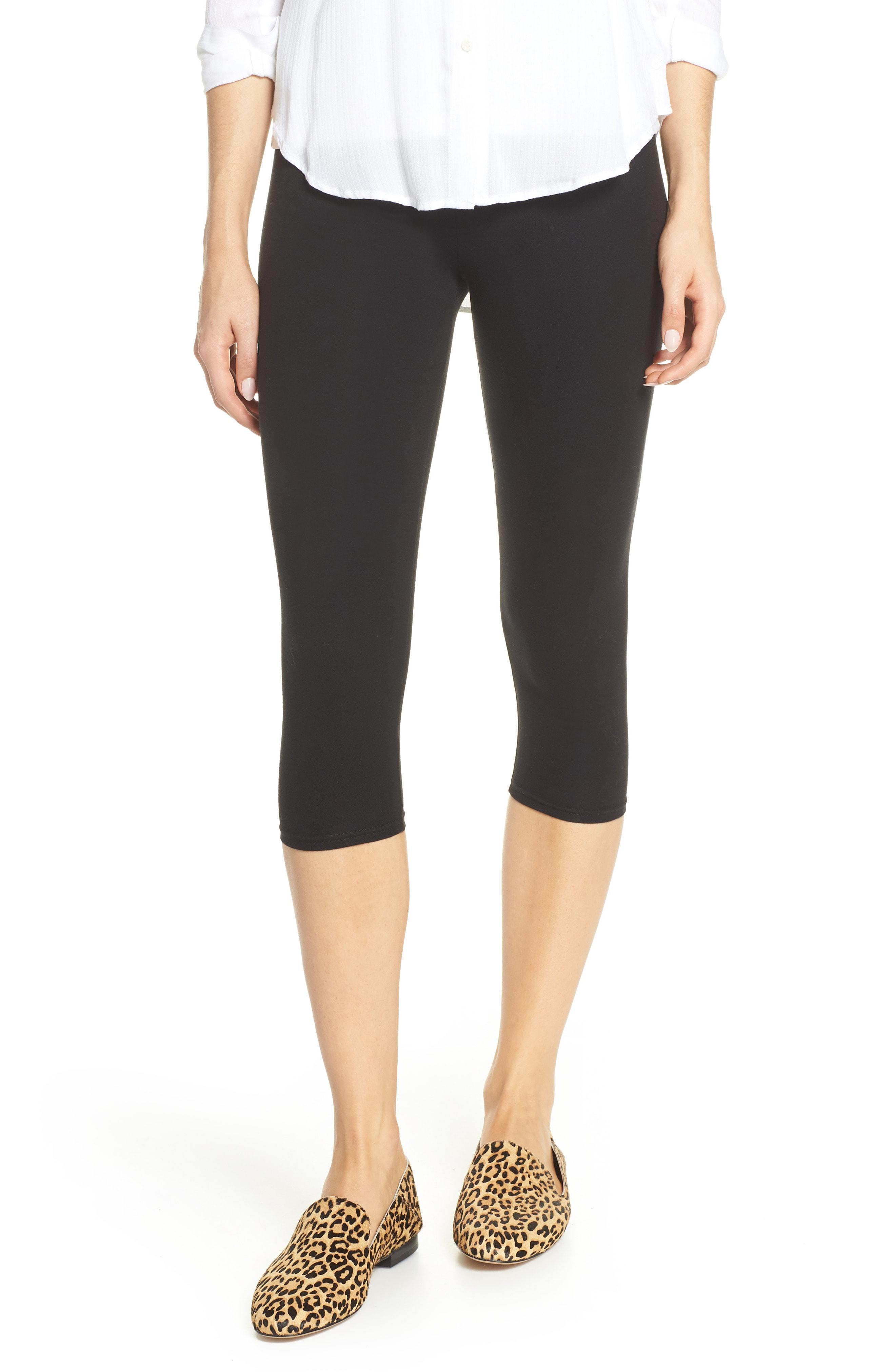 Womens Black Lace Capri Leggings 36 pack - at