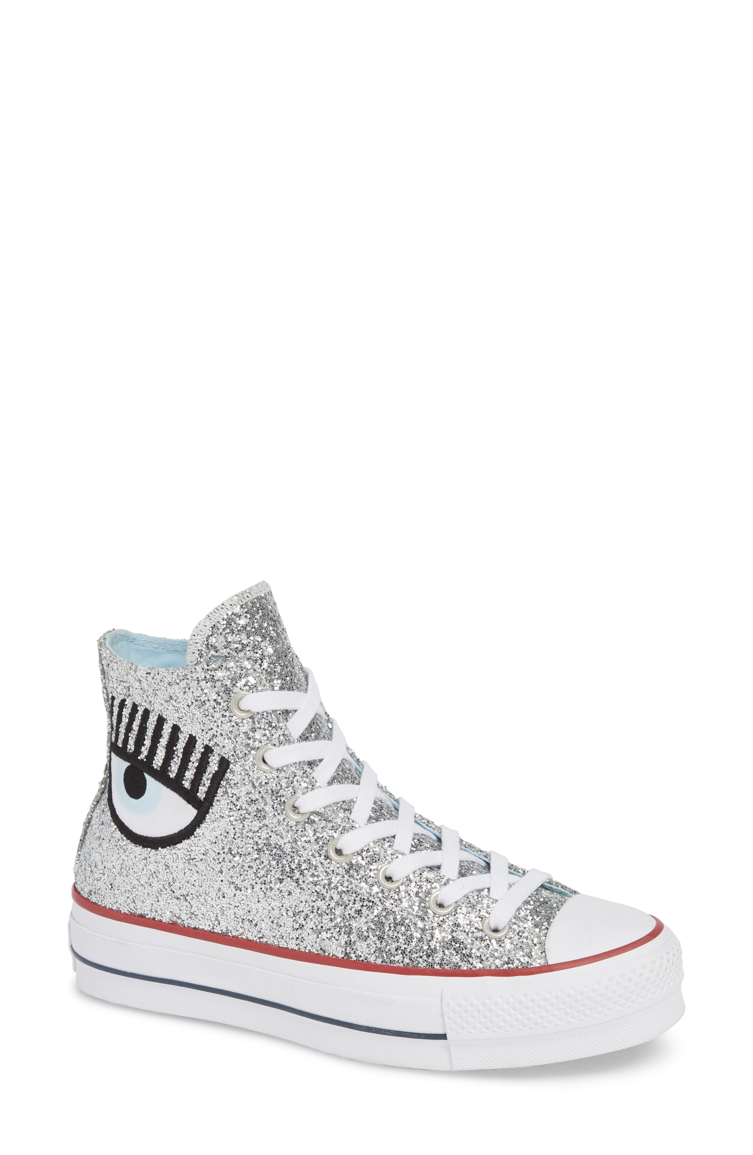 5b7844bcf Converse X Chiara Ferragni 70 Hi One Star Glitter Platform Sneaker ...