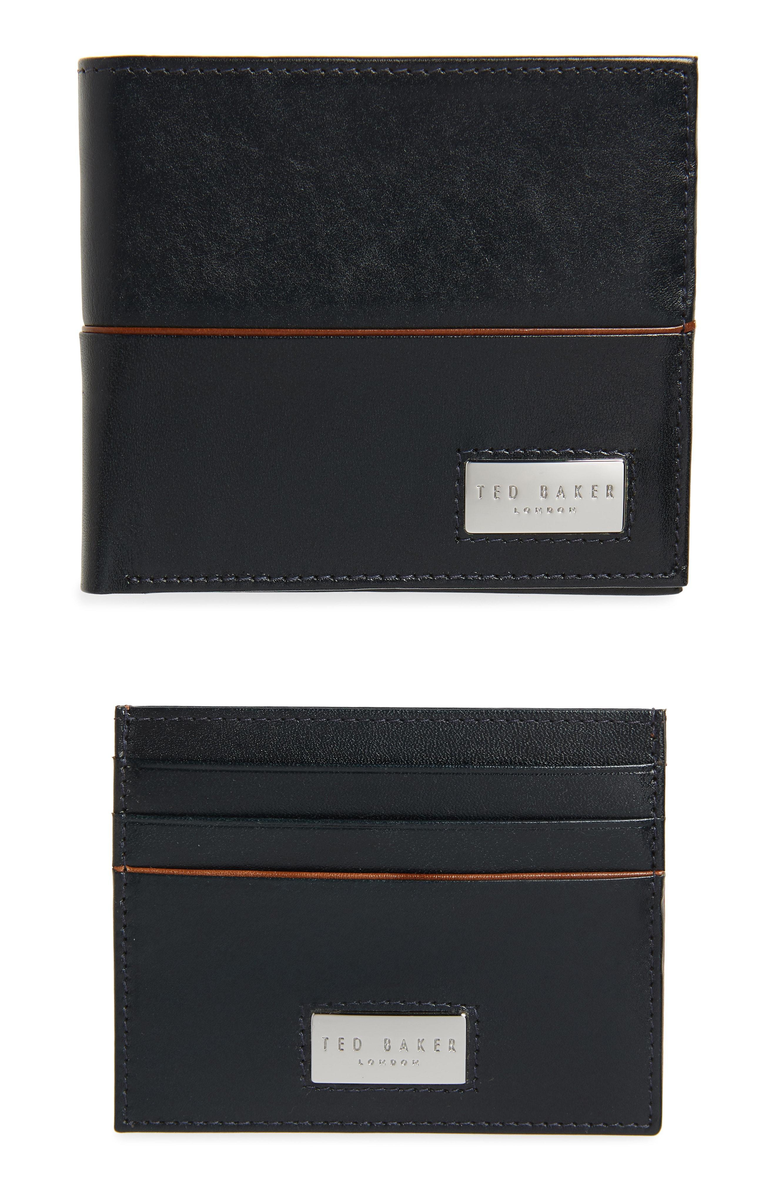 b45100132000 Lyst - Ted Baker Muese Wallet   Card Case Set - in Black for Men