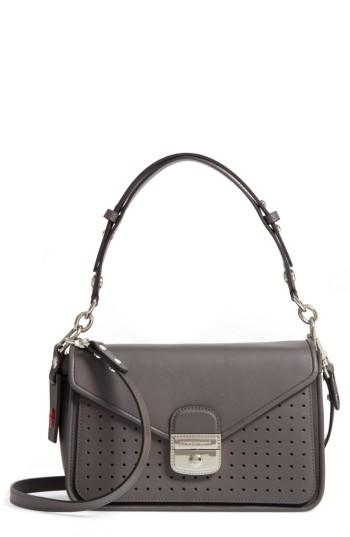Lyst - Longchamp Mademoiselle Calfskin Leather Crossbody Bag in Gray 5cacaa94dc