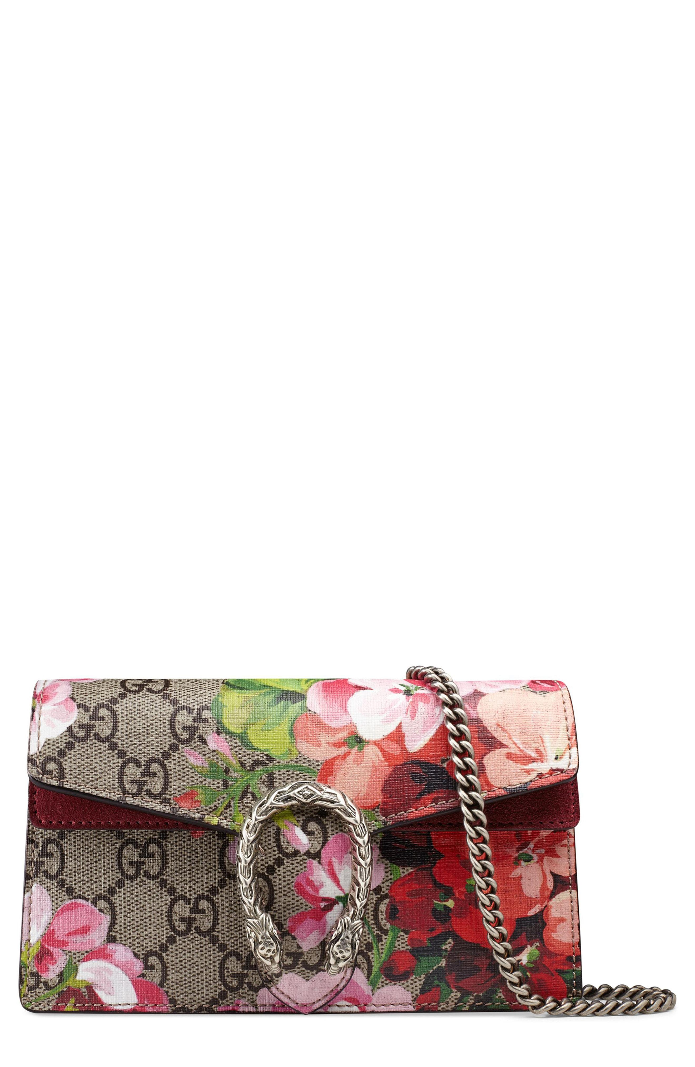 1c5a5e70207d8 Gucci. Women s Dionysus GG Blooms Super Mini Bag