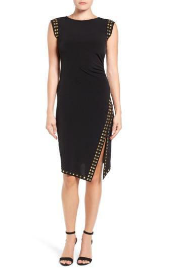 Lyst Michael Michael Kors Studded Sheath Dress In Black