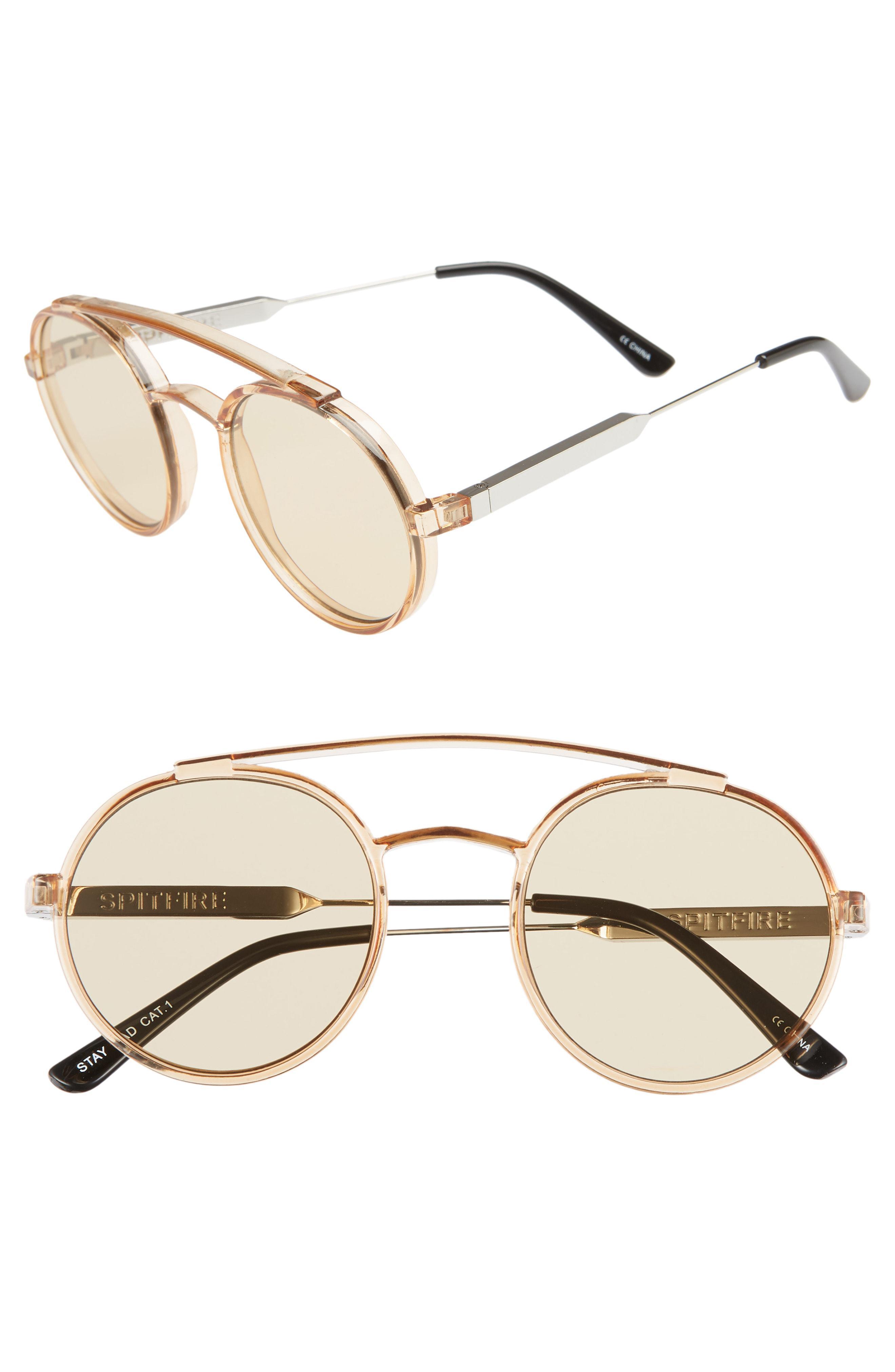 b1e390e443 Lyst - Spitfire Stay Rad 53mm Round Sunglasses - in Metallic