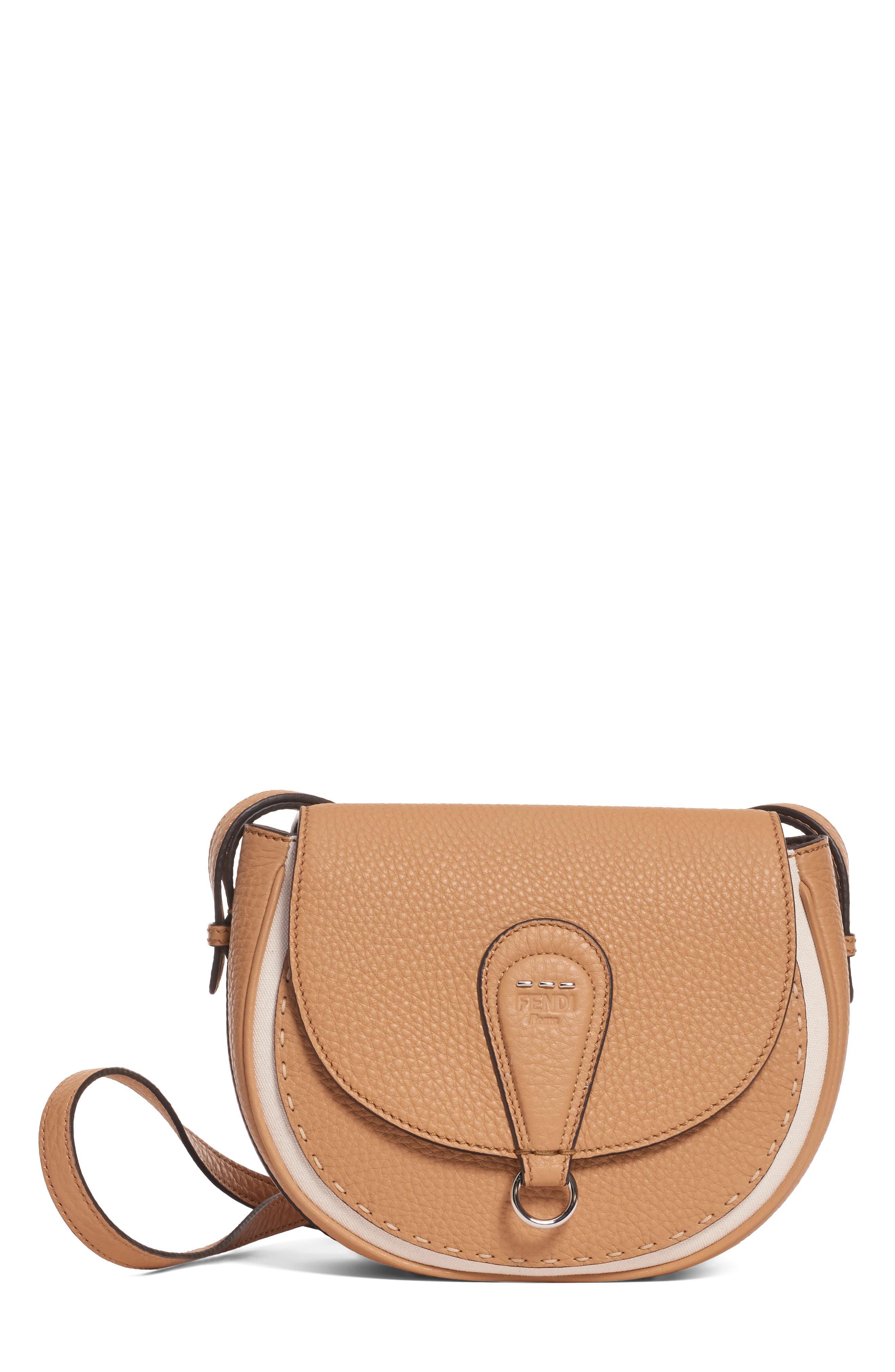 d1c0348aed1 Lyst - Fendi Messenger Selleria Leather Shoulder Bag - in Brown