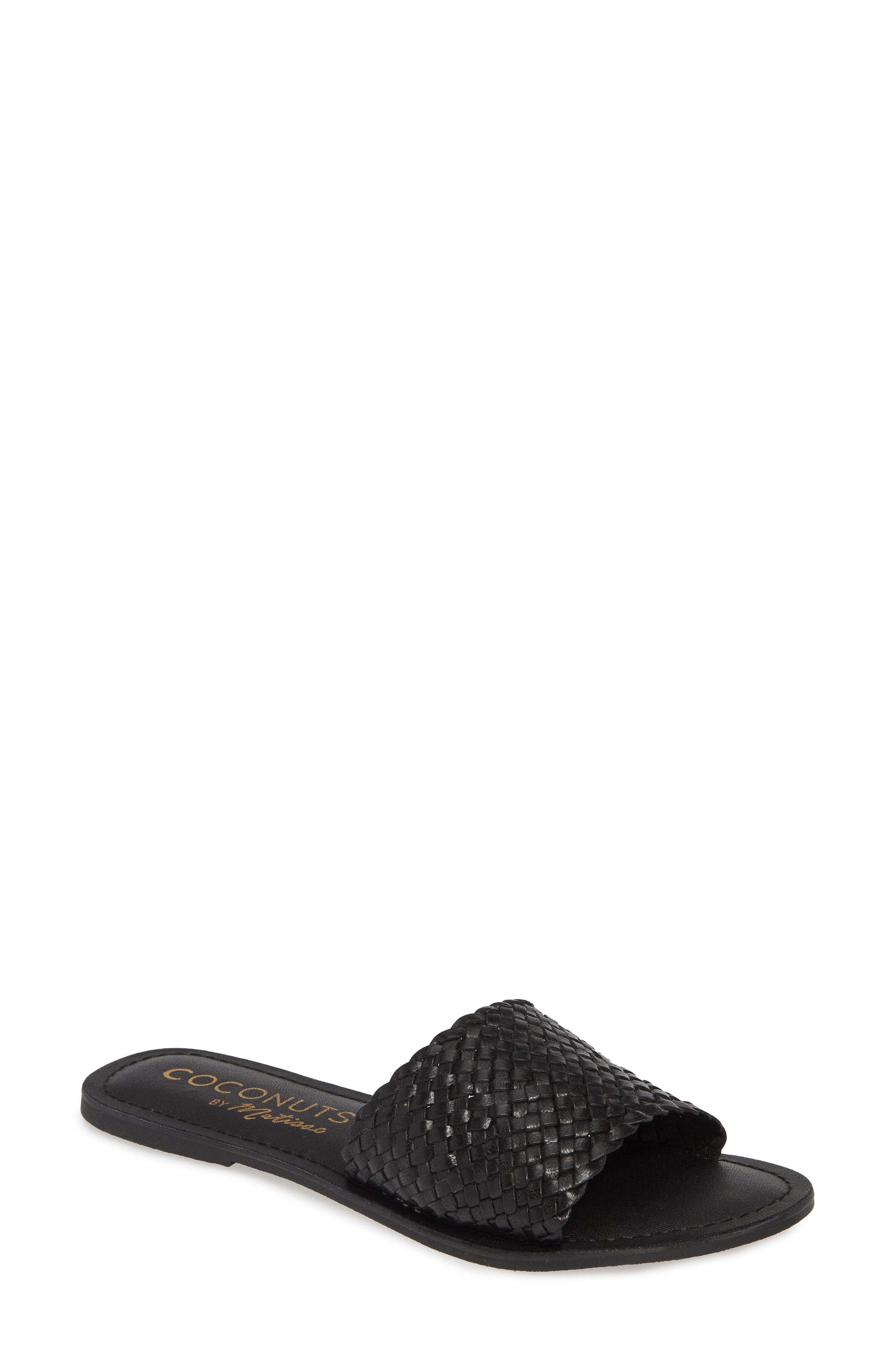 cb2df800e7bd62 Lyst - Matisse Zuma Woven Slide Sandal in Black