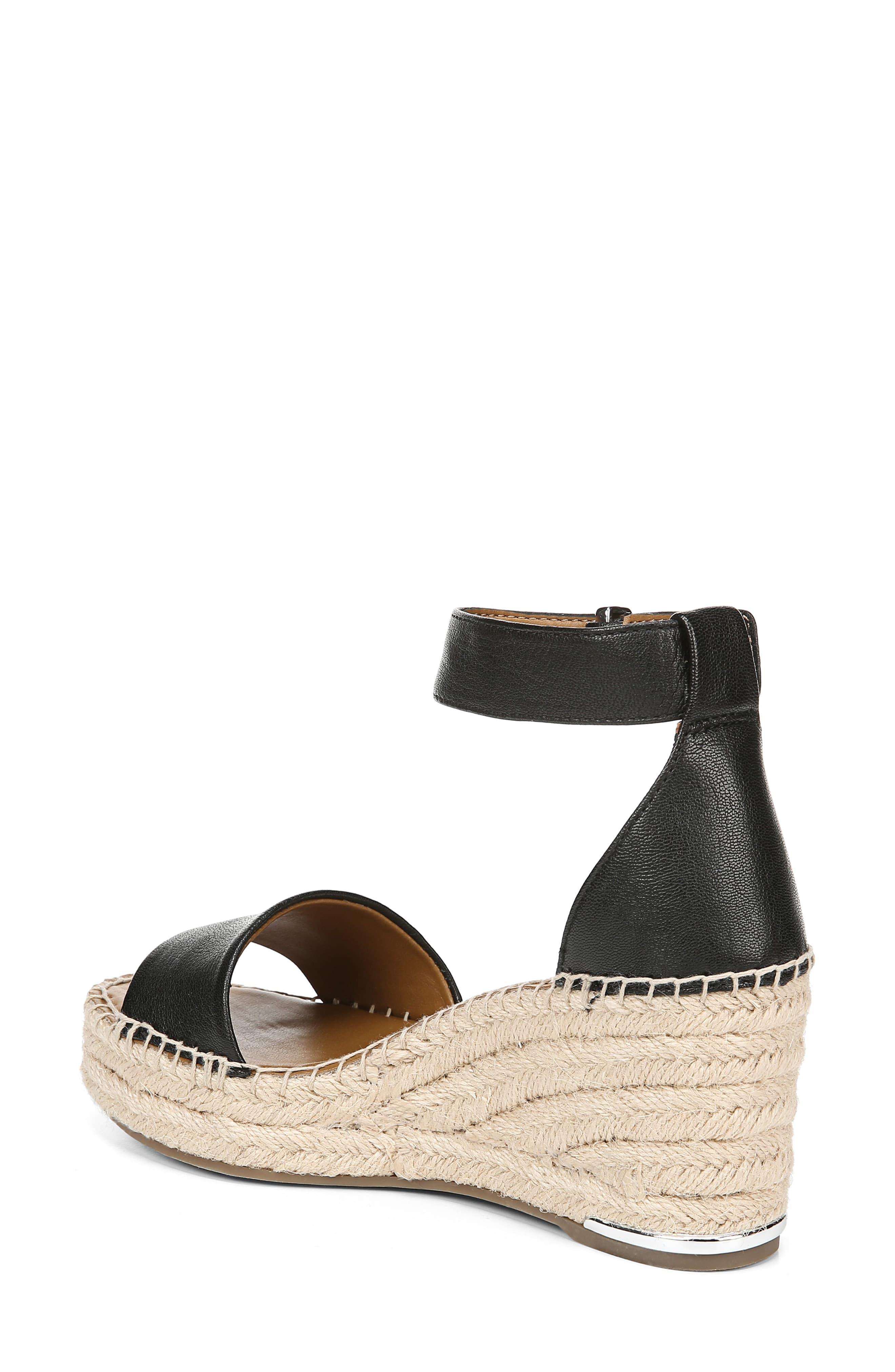 a2500f87b8a Women's Black Clemens Espadrille Wedge Sandal