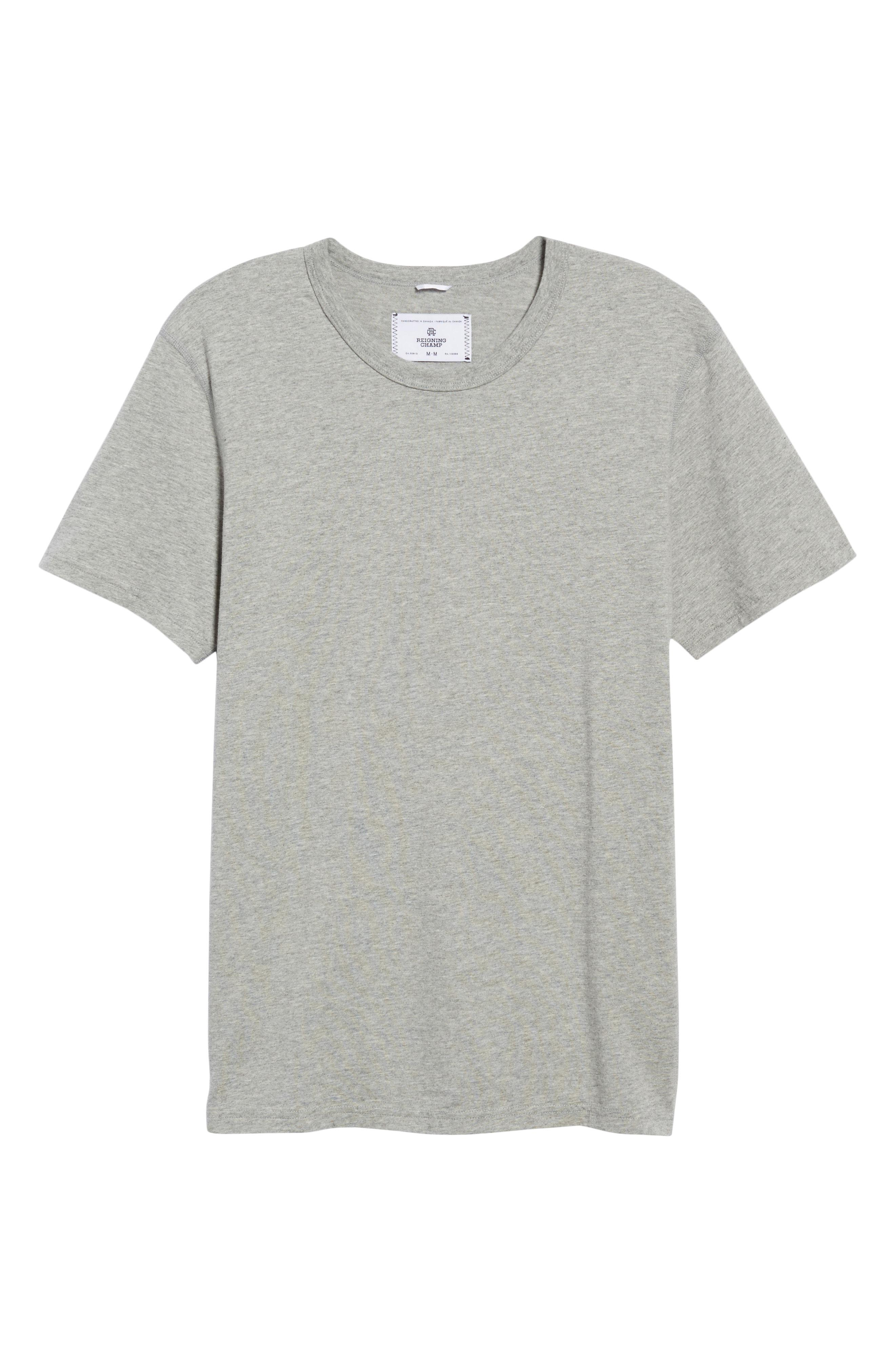 a5aa7a2df7 Lyst - Reigning Champ Short Sleeve Crewneck T-shirt in Gray for Men