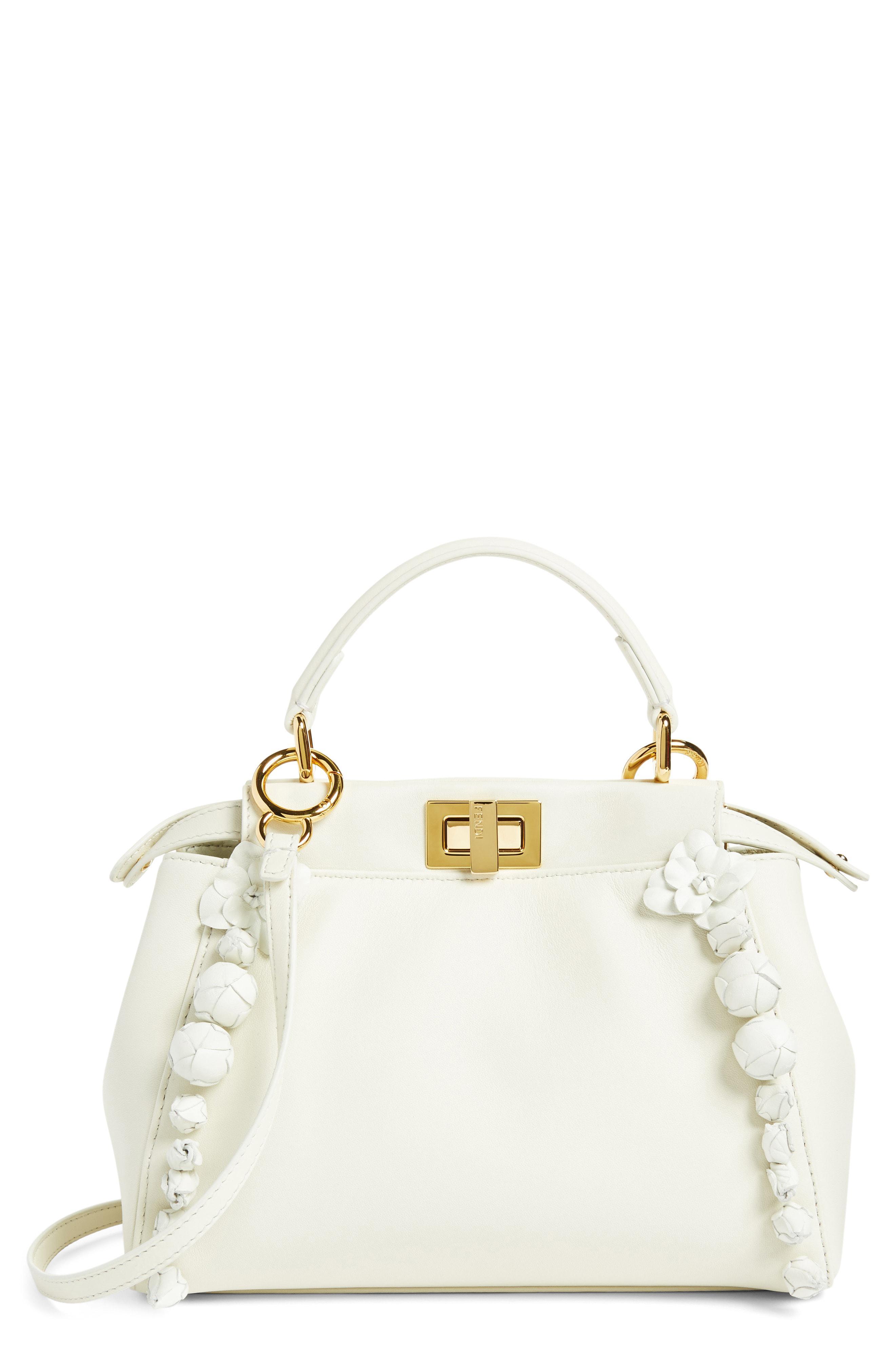 3666196b76 Fendi - Multicolor Mini Peekaboo Floral Leather Satchel - - Lyst. View  fullscreen