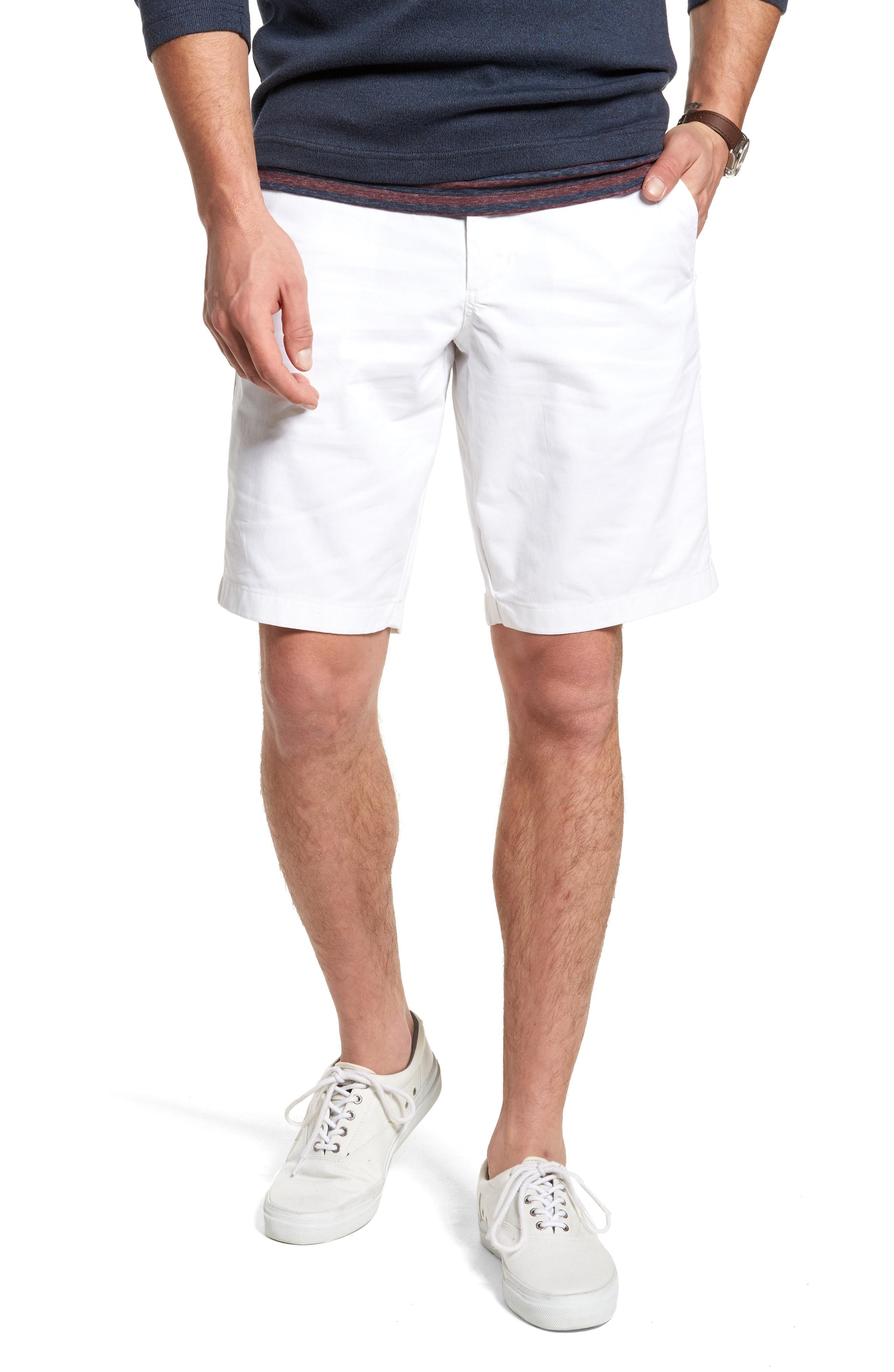 50b4d2bbd2 Nordstrom. Men's White 1901 Ballard Slim Fit Stretch Chino 11-inch Shorts