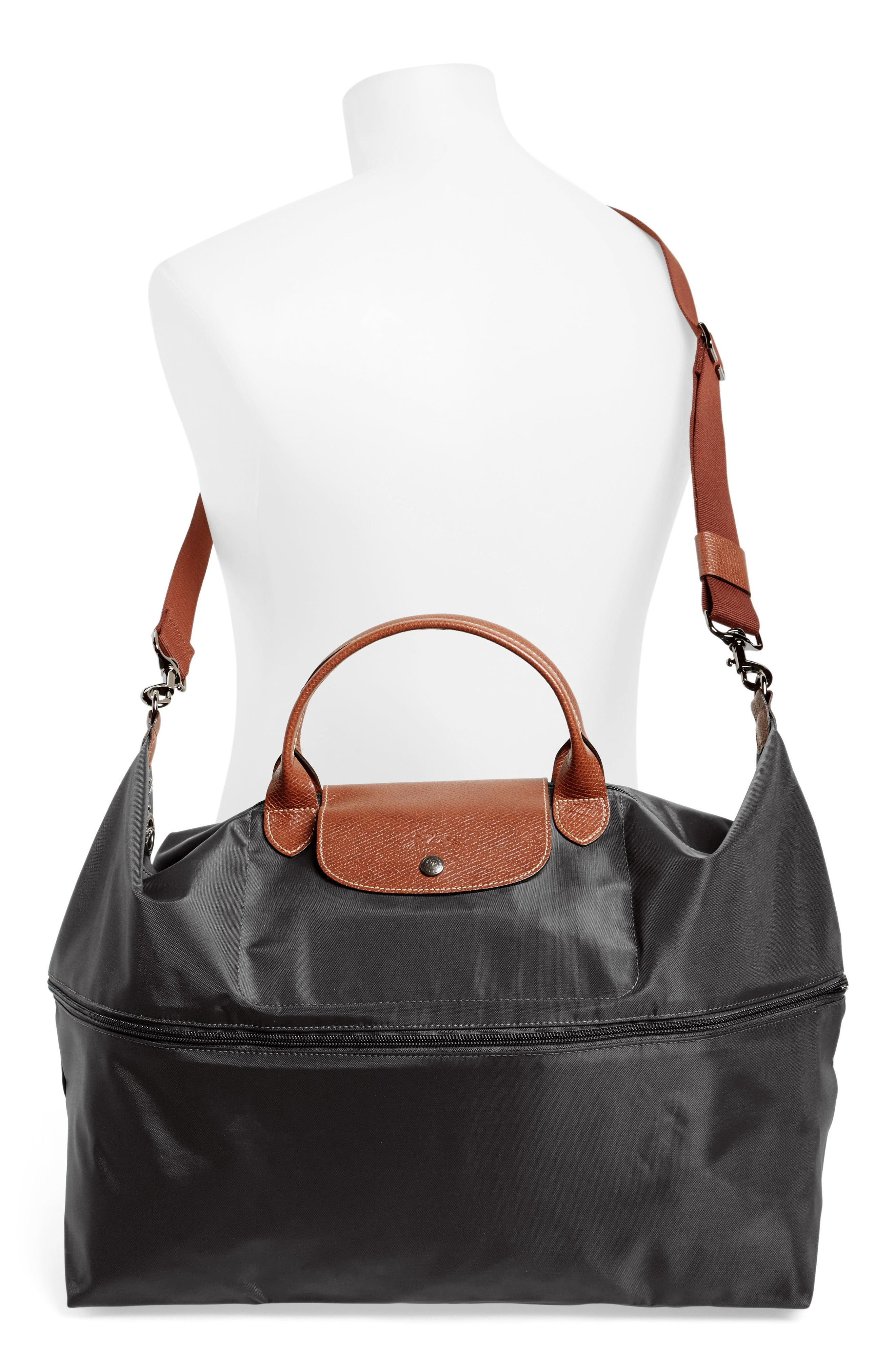 d93546c4e Longchamp - Black 'le Pliage' Expandable Travel Bag - Lyst. View fullscreen