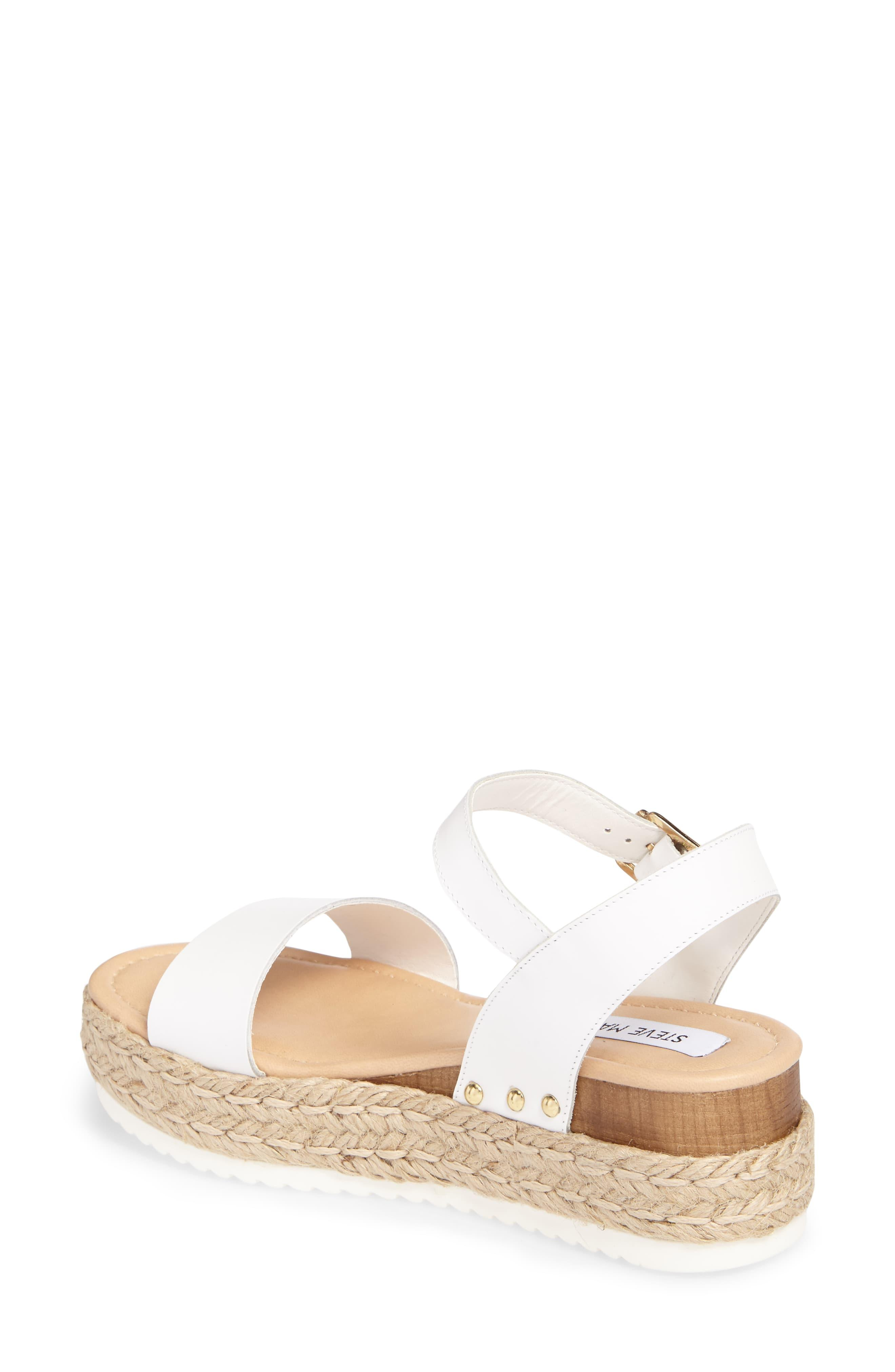 5645fd0367 Steve Madden Chiara Flatform Espadrille Sandals in White - Lyst