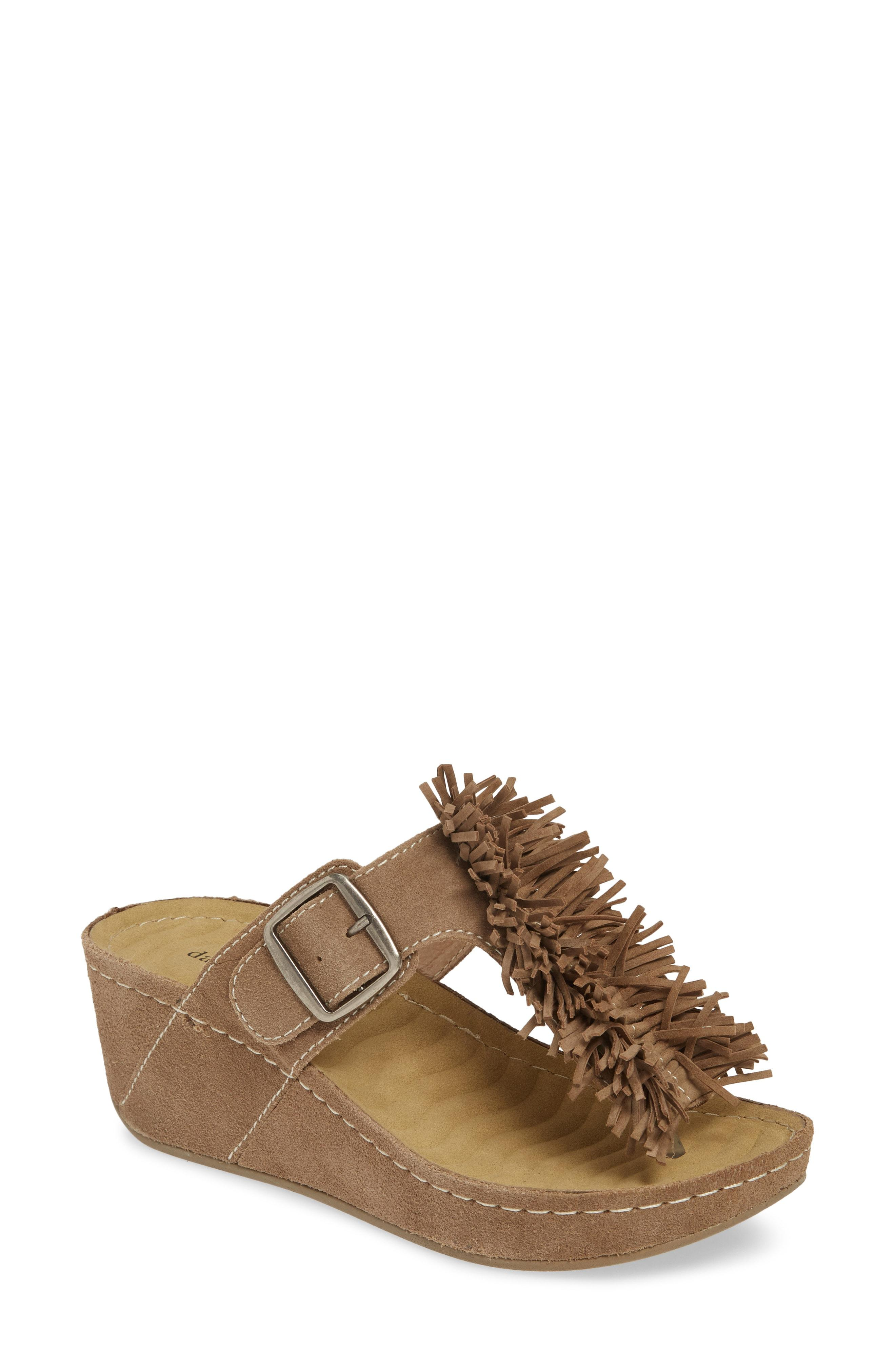 5c9bbae9b03 Lyst - David Tate Festive Wedge Sandal in Natural
