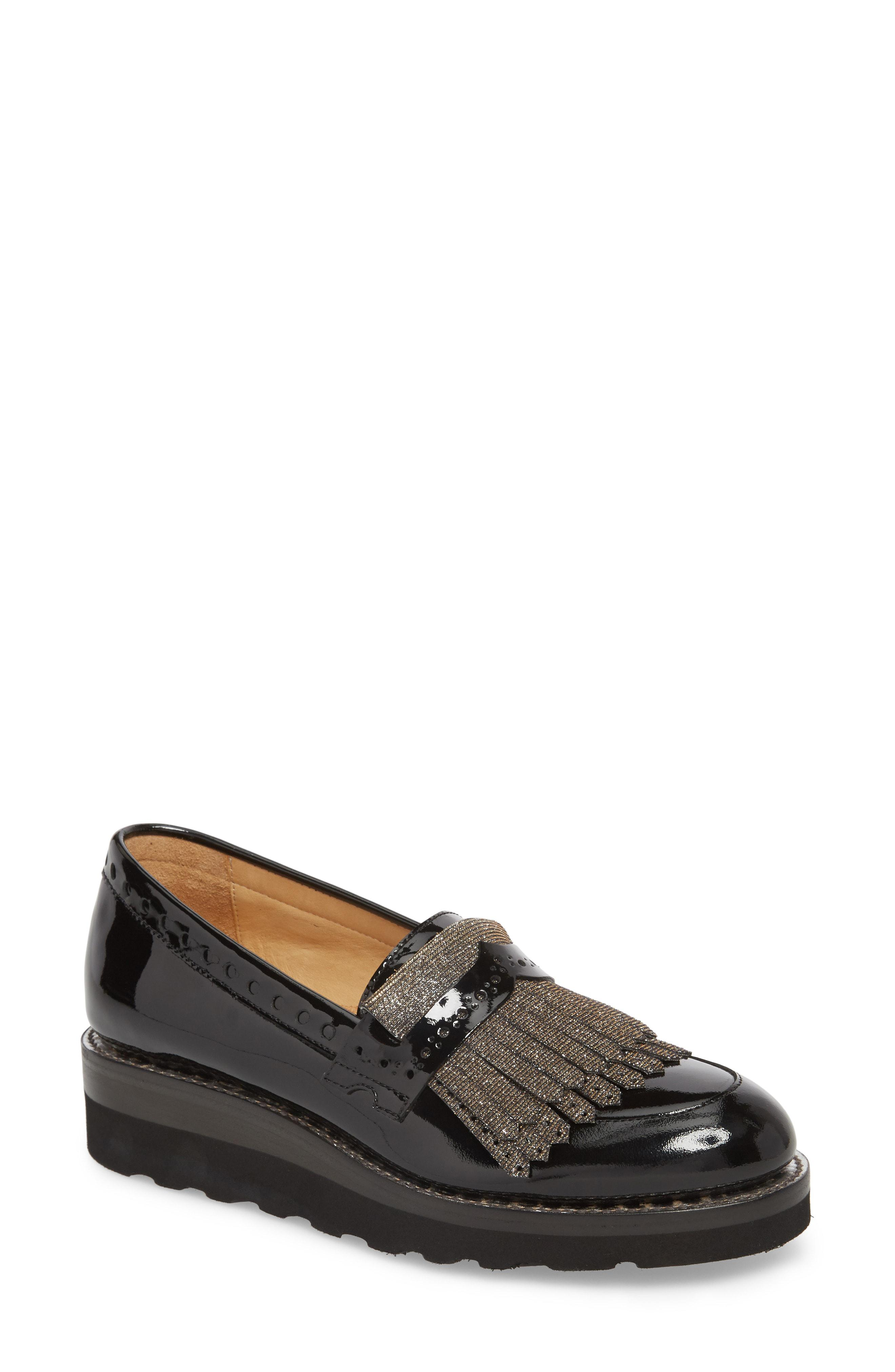 b529f5257a1 Lyst - The Office Of Angela Scott Mr. Pennywise Wedge Loafer in Black
