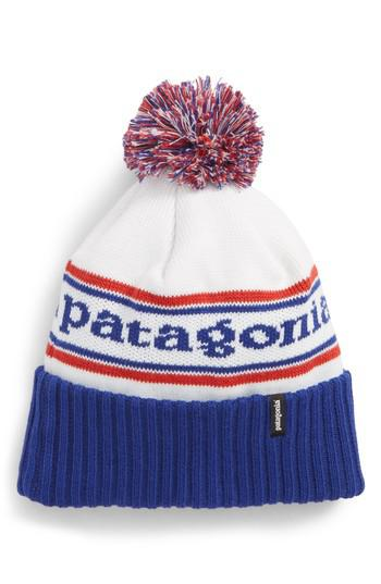 dd4ce21353b ... outlet store sale e1b14 58879 Lyst - Patagonia powder Down Beanie in  Blue ...