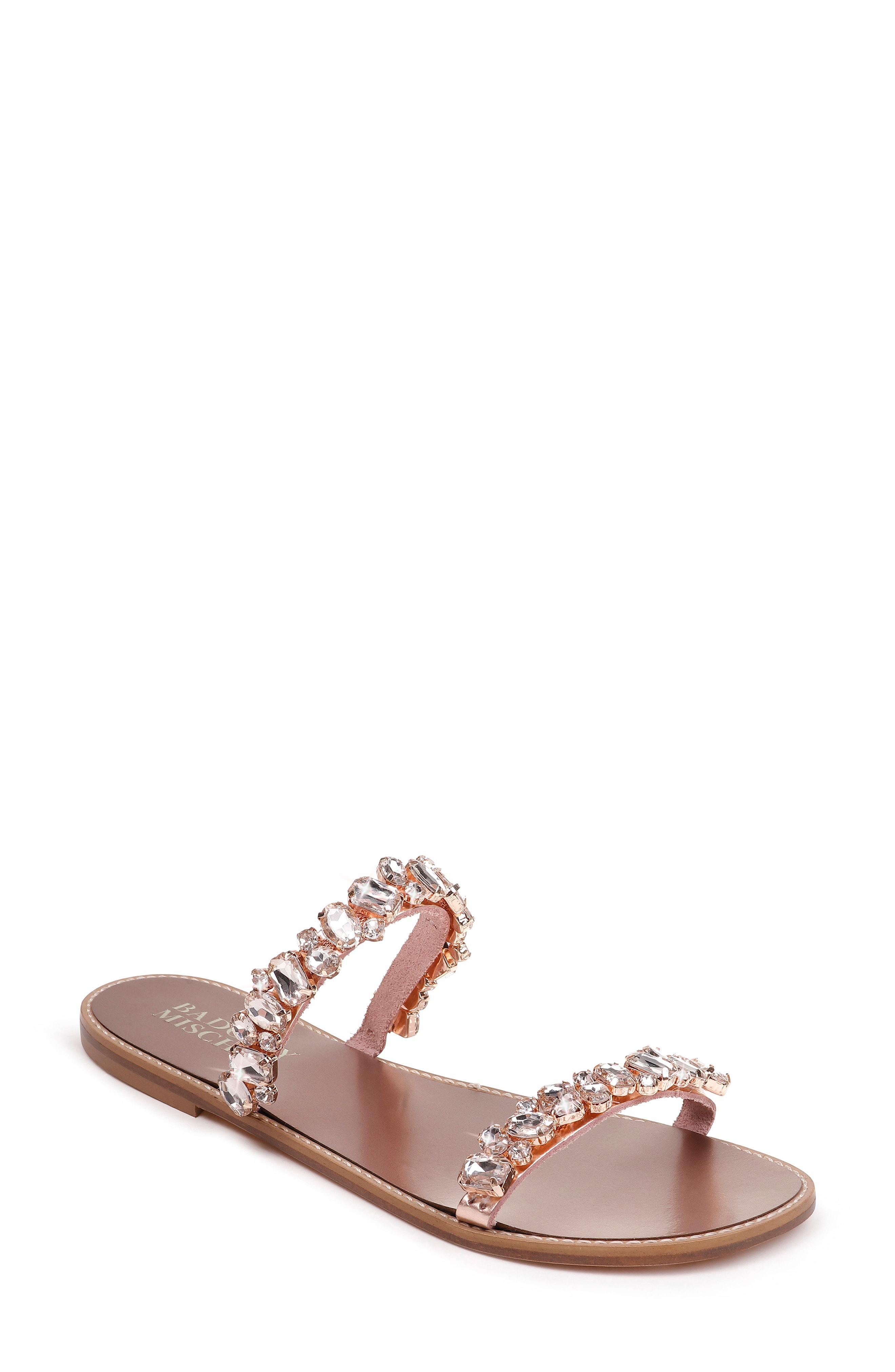 91c6adc0e9e Badgley Mischka. Women s Pink Badgley Mischka Loveday Crystal Embellished  Slide Sandal