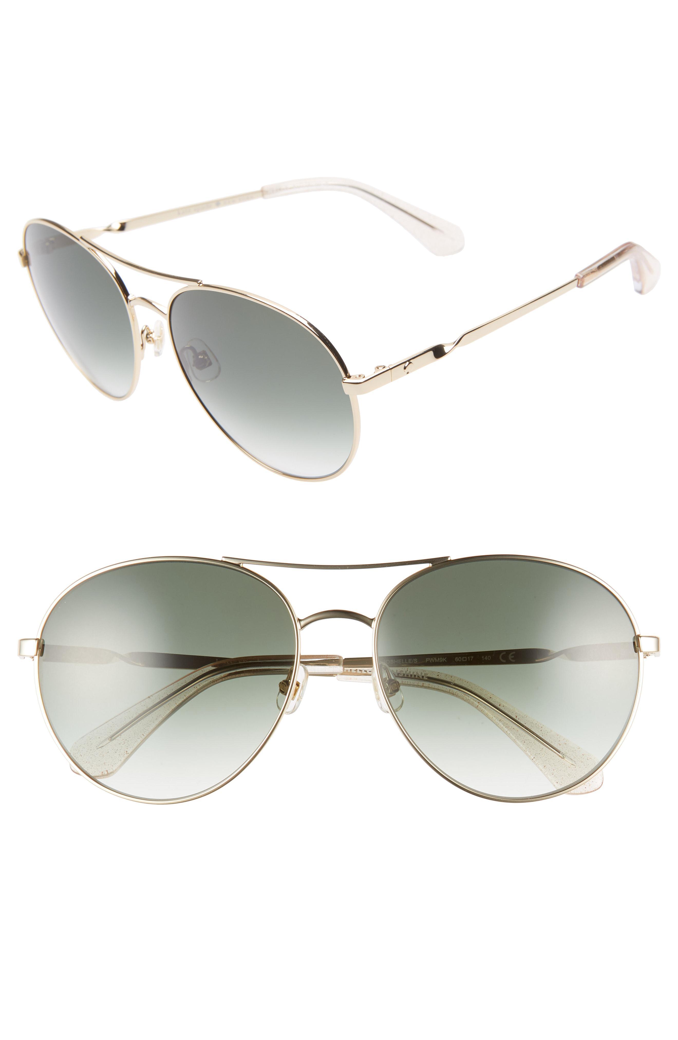 552dc7de8ab4b Lyst - Kate Spade Joshelle 60mm Aviator Sunglasses - in Pink