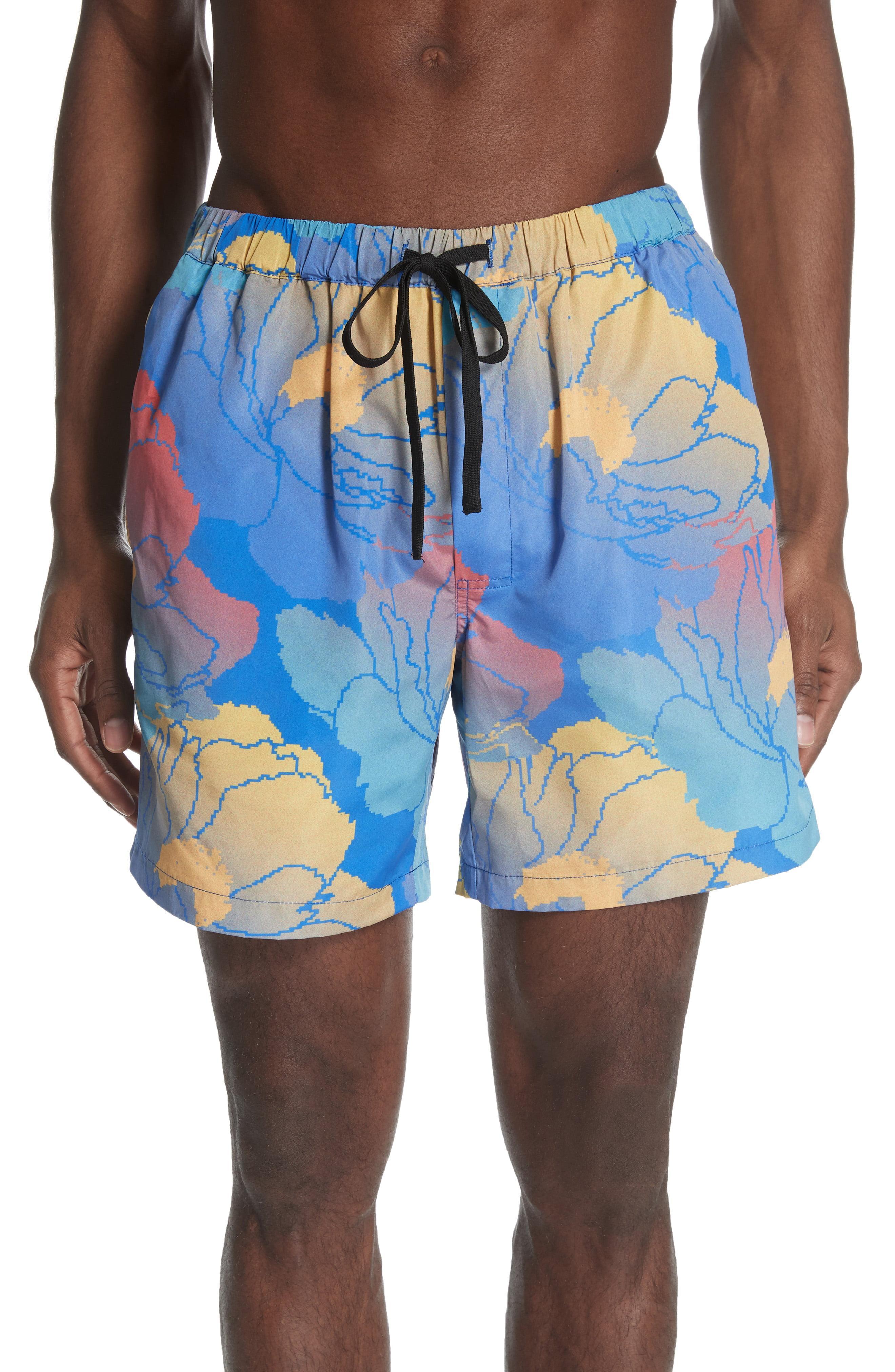 9dc412f3f6 Lyst - DOUBLE RAINBOUU Fast Paradise Swim Trunks in Blue for Men