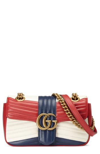 302372aef80 Lyst - Gucci Mini Gg Marmont 2.0 Tricolor Matelasse Leather Shoulder ...